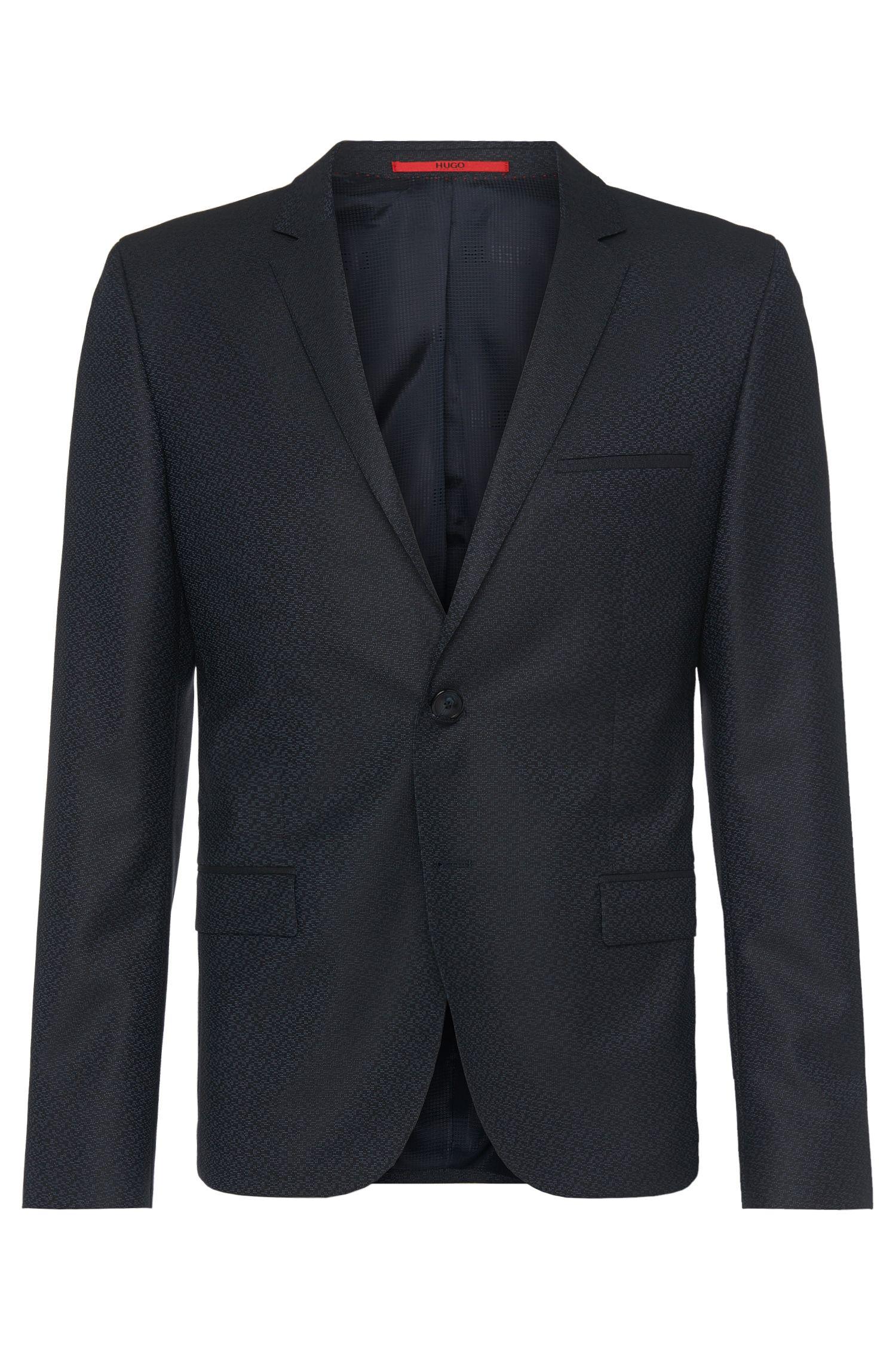 'Arti' | Slim Fit, Stretch Virgin Wool Jacquard Sport Coat