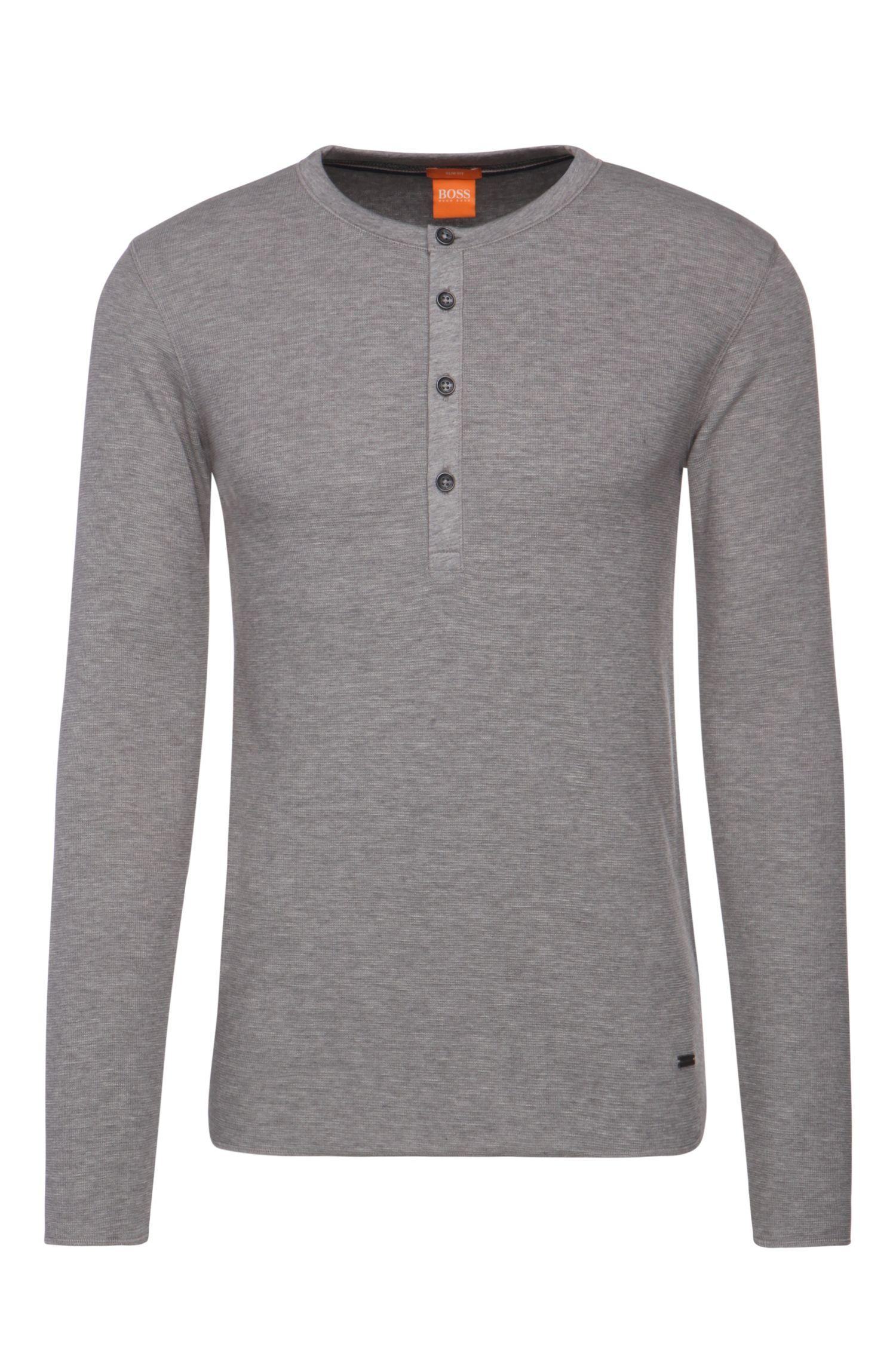 'Topsider' | Cotton Waffle Knit Henley Shirt