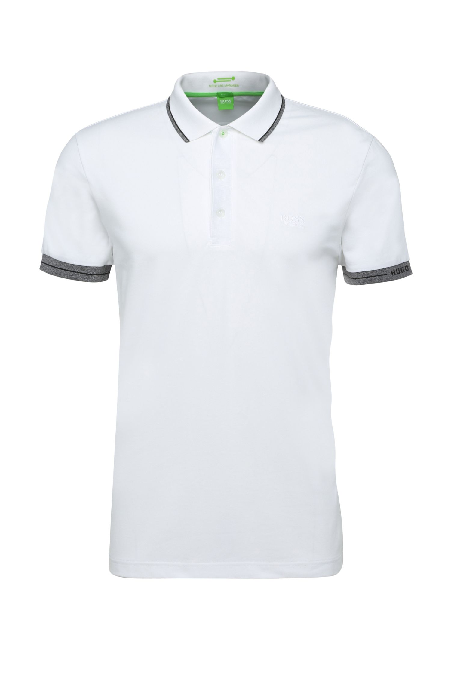 'Paule' | Slim Fit, Moisture Manager Cotton Polo Shirt