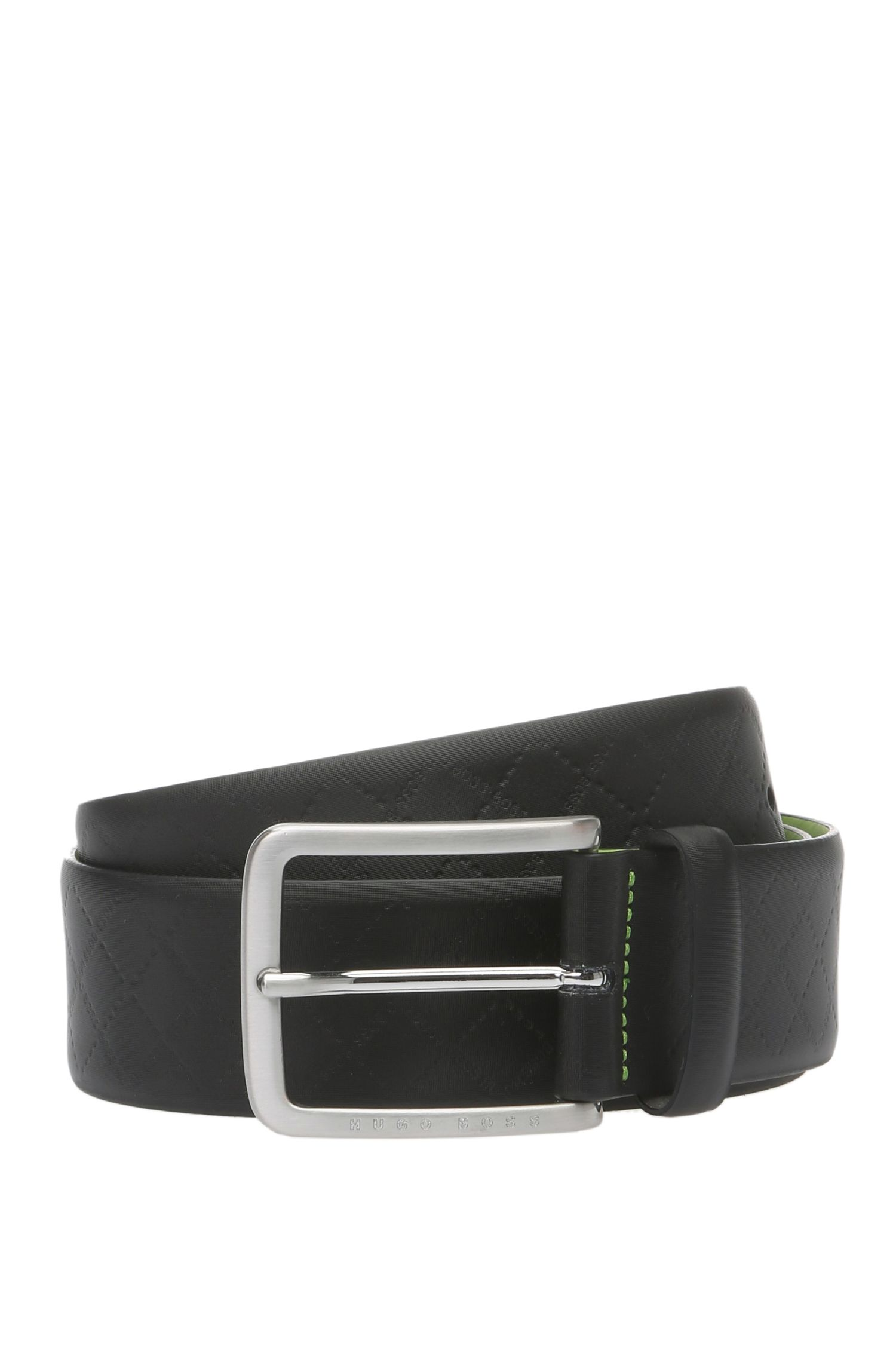 'Tom Sz Item' | Leather Diamond Texture Belt
