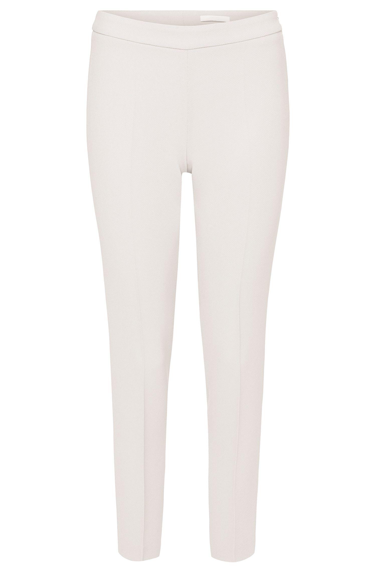 'Tiluna_Sidezip' | Textured Traictetate Blend Dress Pants