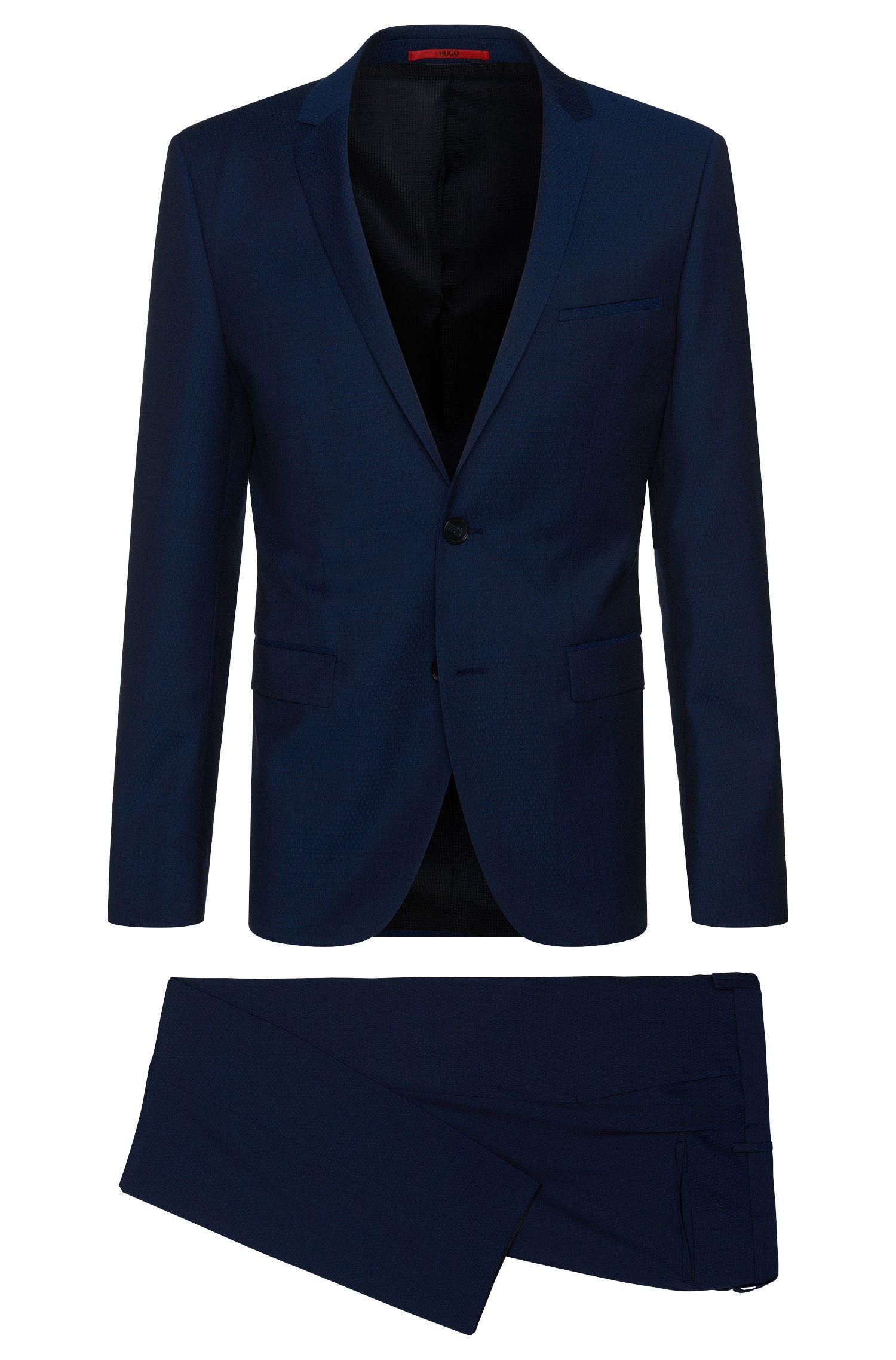 'Adris/Heibo' | Extra Slim Fit, Patterned Virgin Wool Suit