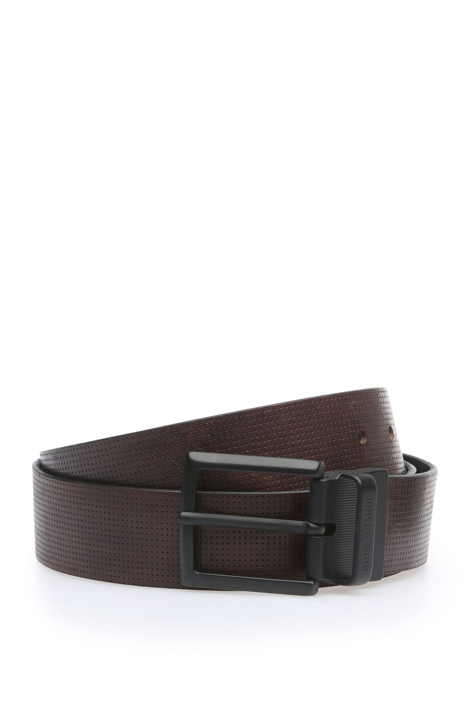 'James Or40 Ps' | Leather Perforated Belt