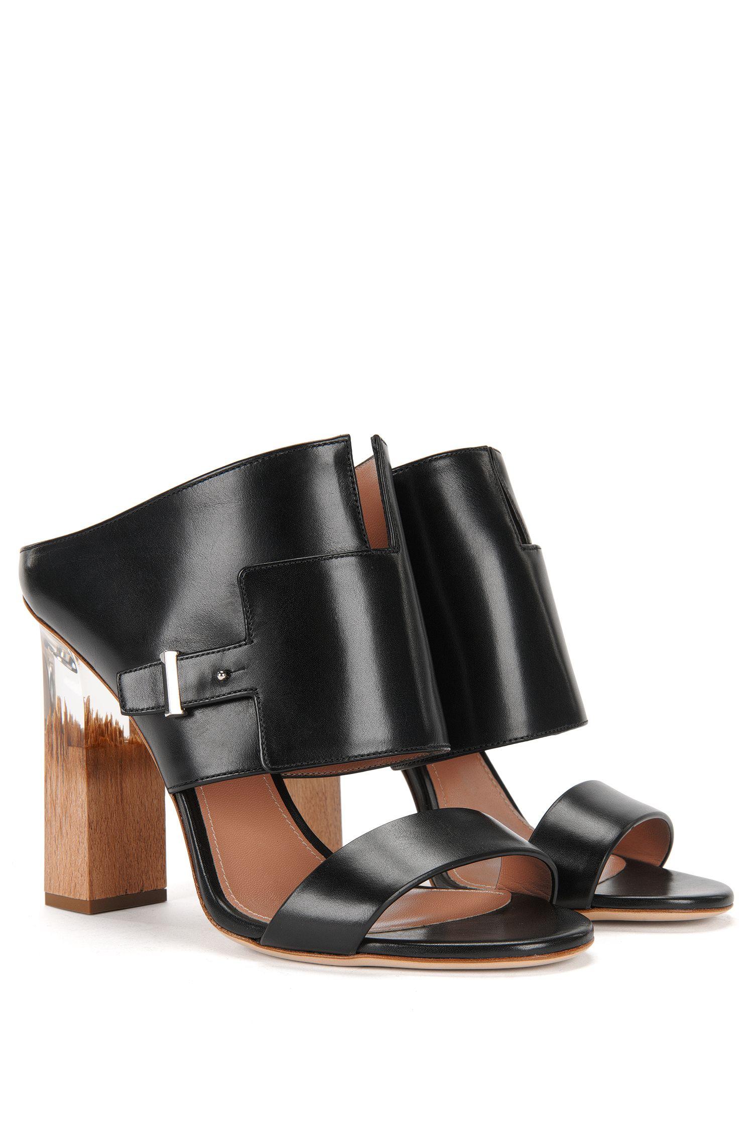 'Bespoke Pin Sandal' | Italian Calfskin Resin Heel Sandals