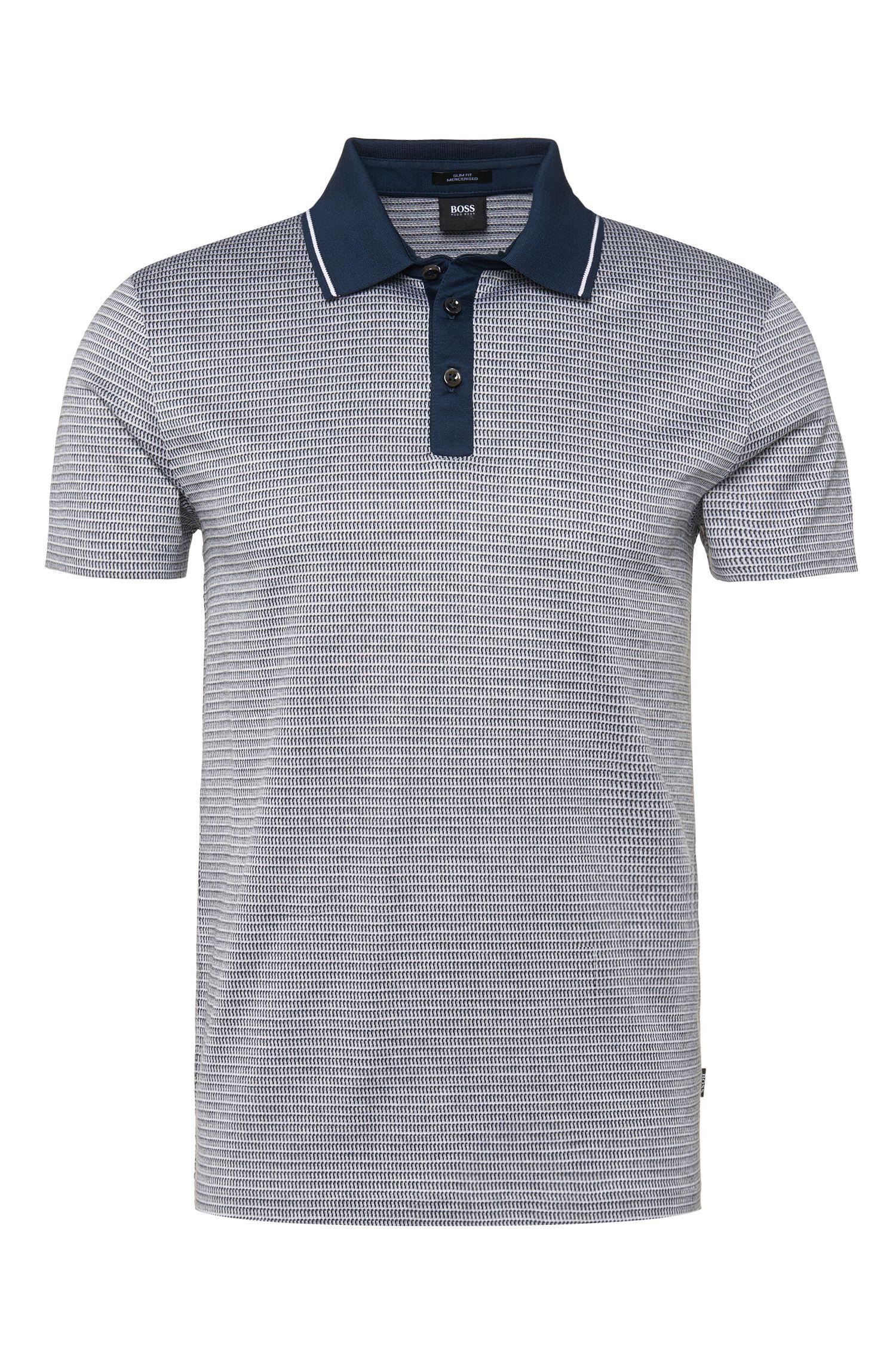 'Pitton' | Slim Fit, Mercerized Cotton Polo Shirt