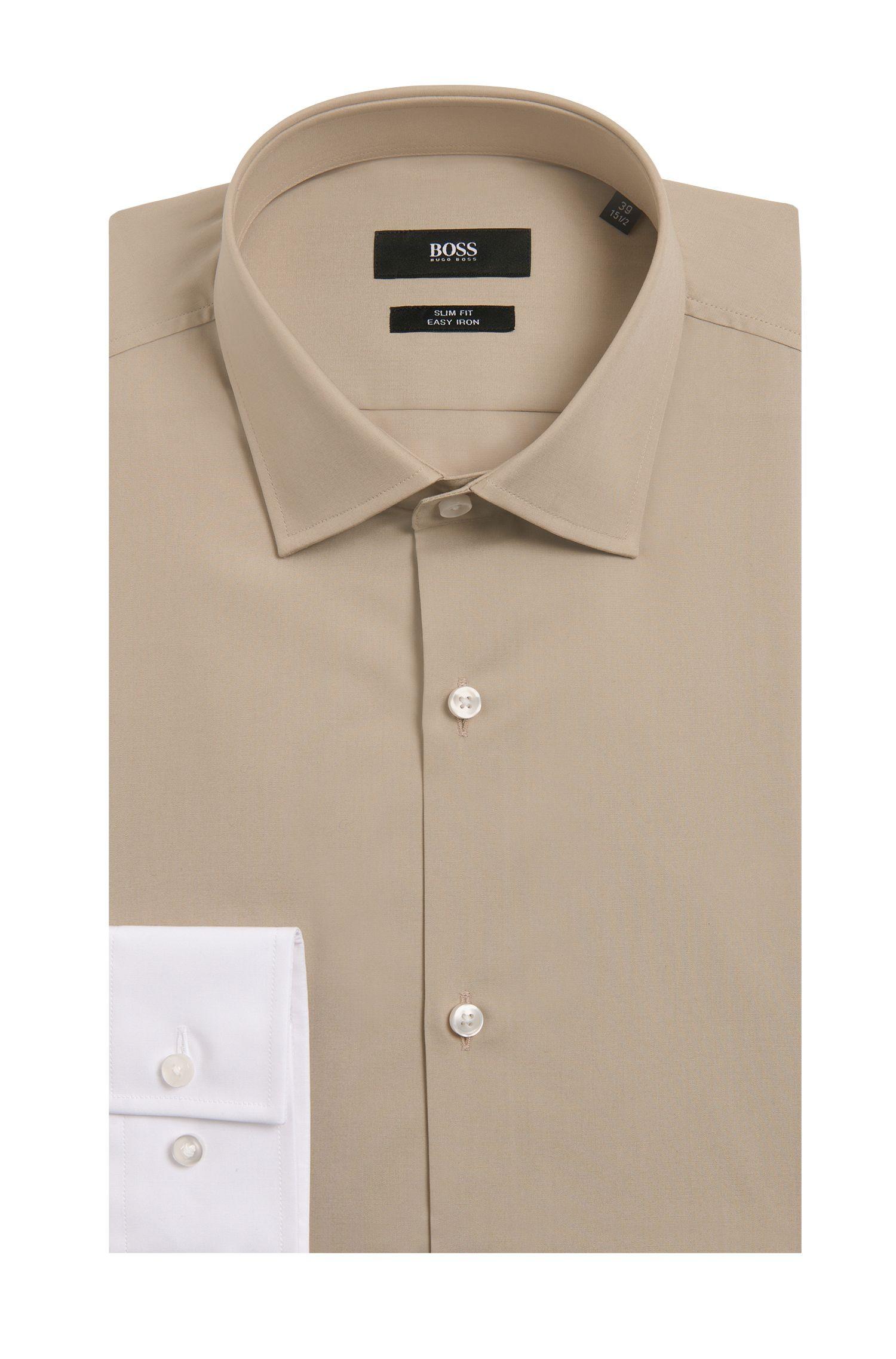 'Jeven' | Slim-Fit, Cotton Two-Tone Dress Shirt