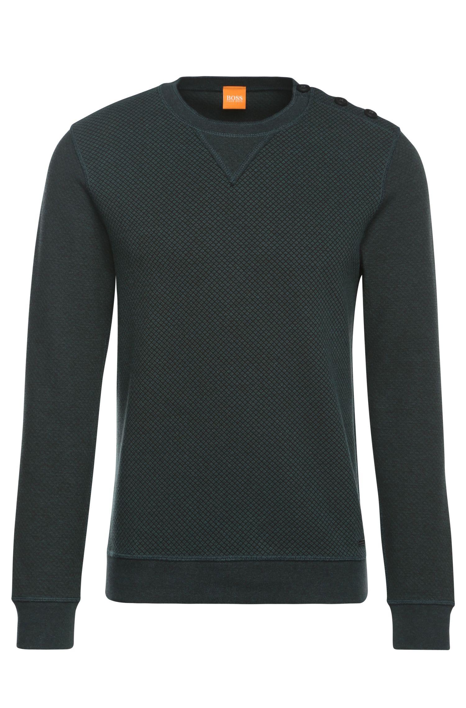 'Who' | Stretch Cotton Blend Jacquard Sweatshirt
