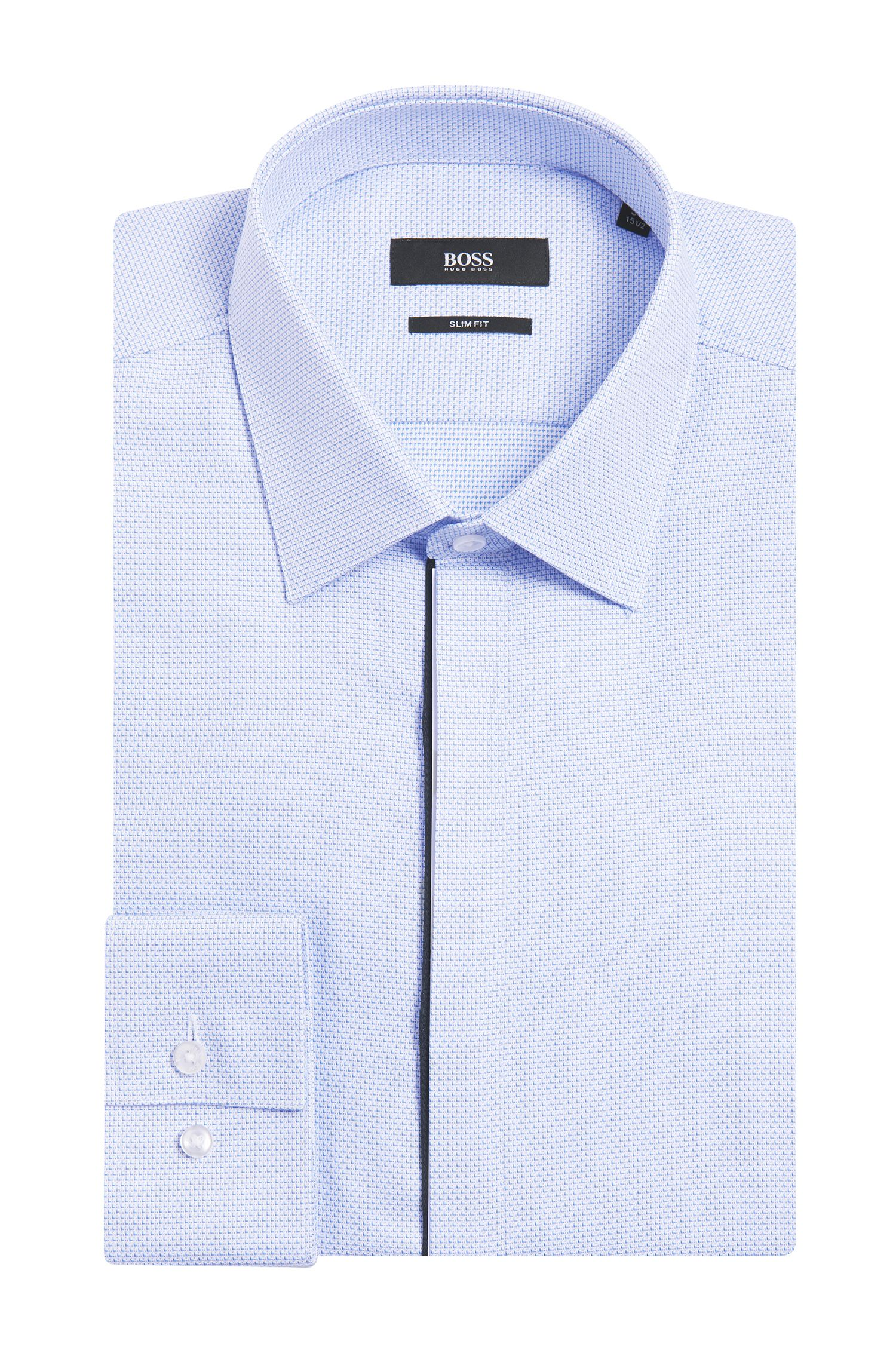 'Jamis' | Slim Fit, Cotton Patterned Dress Shirt