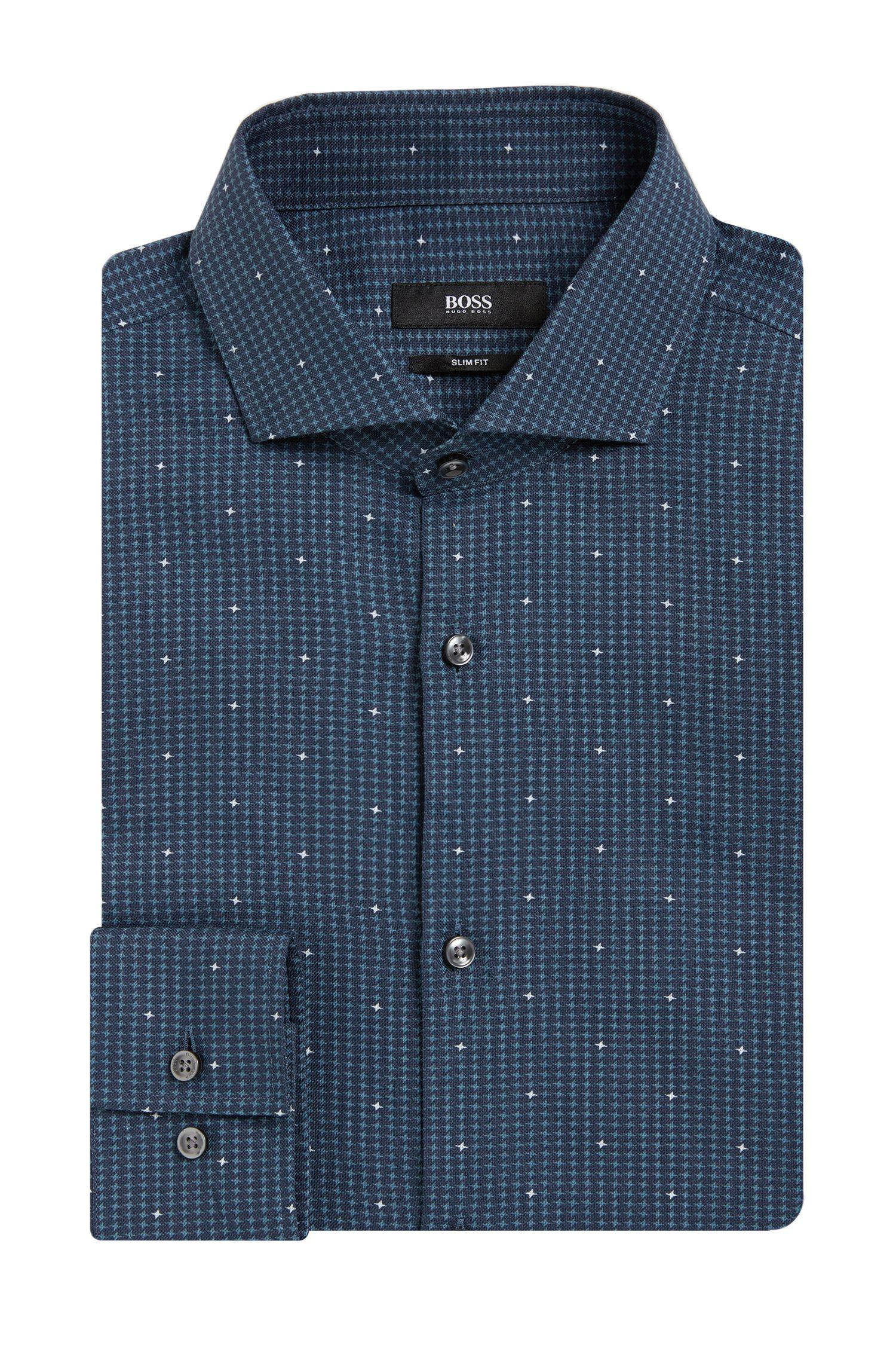 'Jason' | Slim Fit, Cotton Printed Dress Shirt