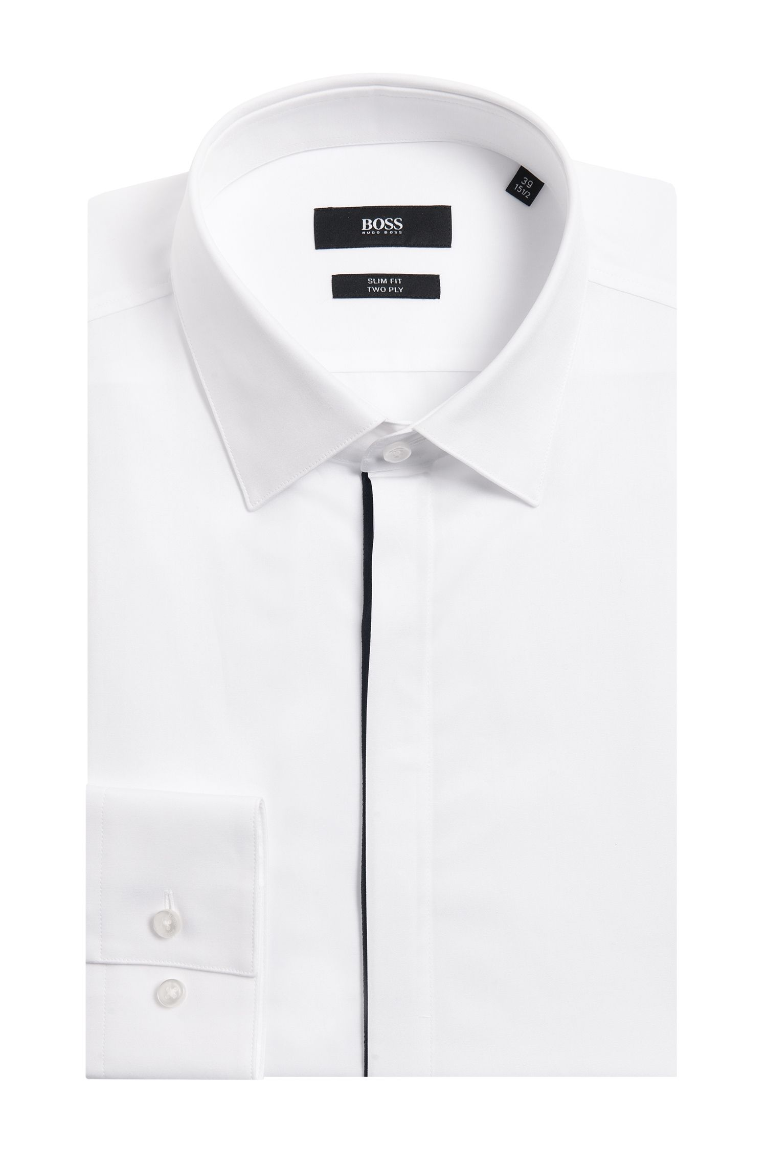 'Jamis' | Slim Fit, 2-Ply Italian Cotton Dress Shirt