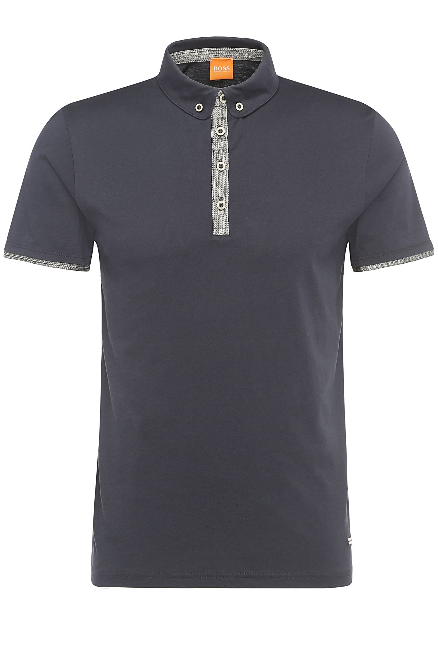 'Playott' | Slim Fit, Cotton Polo Shirt