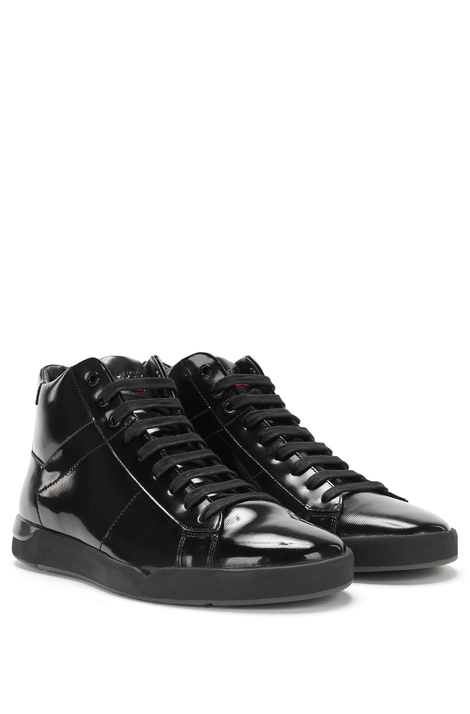 'Fusion Midc Paml' | Calfskin Patent High Tops
