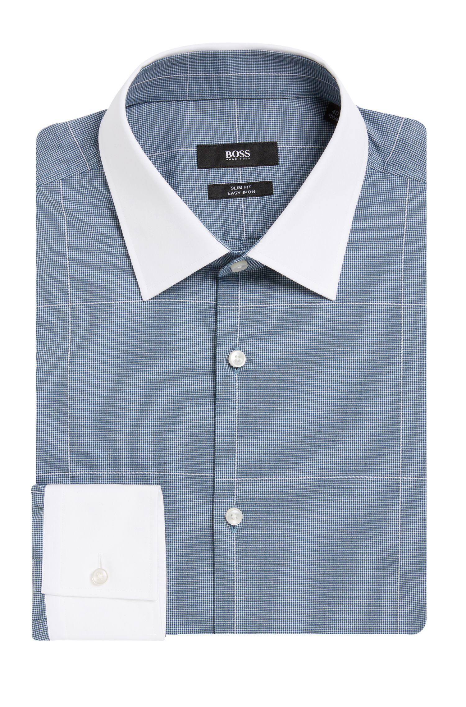 'Jonnes' | Slim Fit, Easy Iron Cotton Dress Shirt
