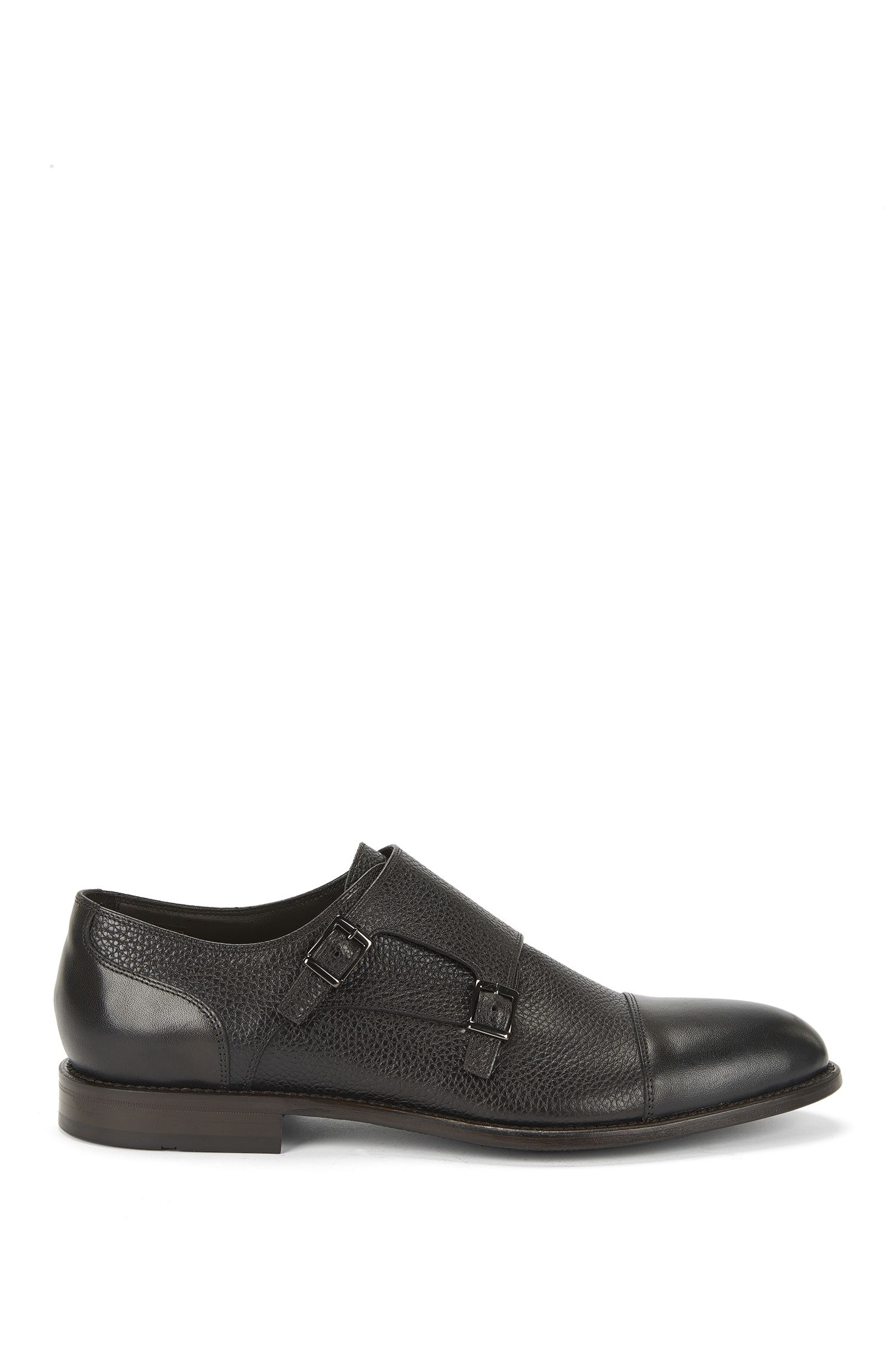 'Stockholm Monk Mxct' | Italian Calfskin Double Monk Strap Dress Shoes