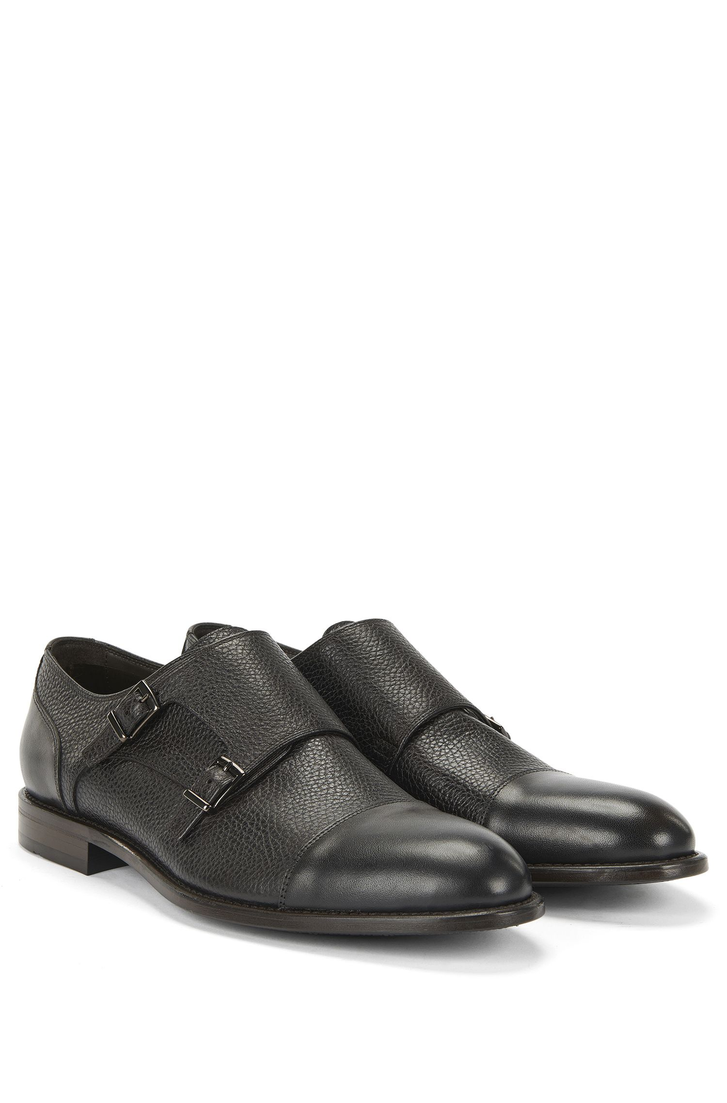 'Stockholm Monk Mxct' | Italian Calfskin Double Monk Strap Dress Shoes
