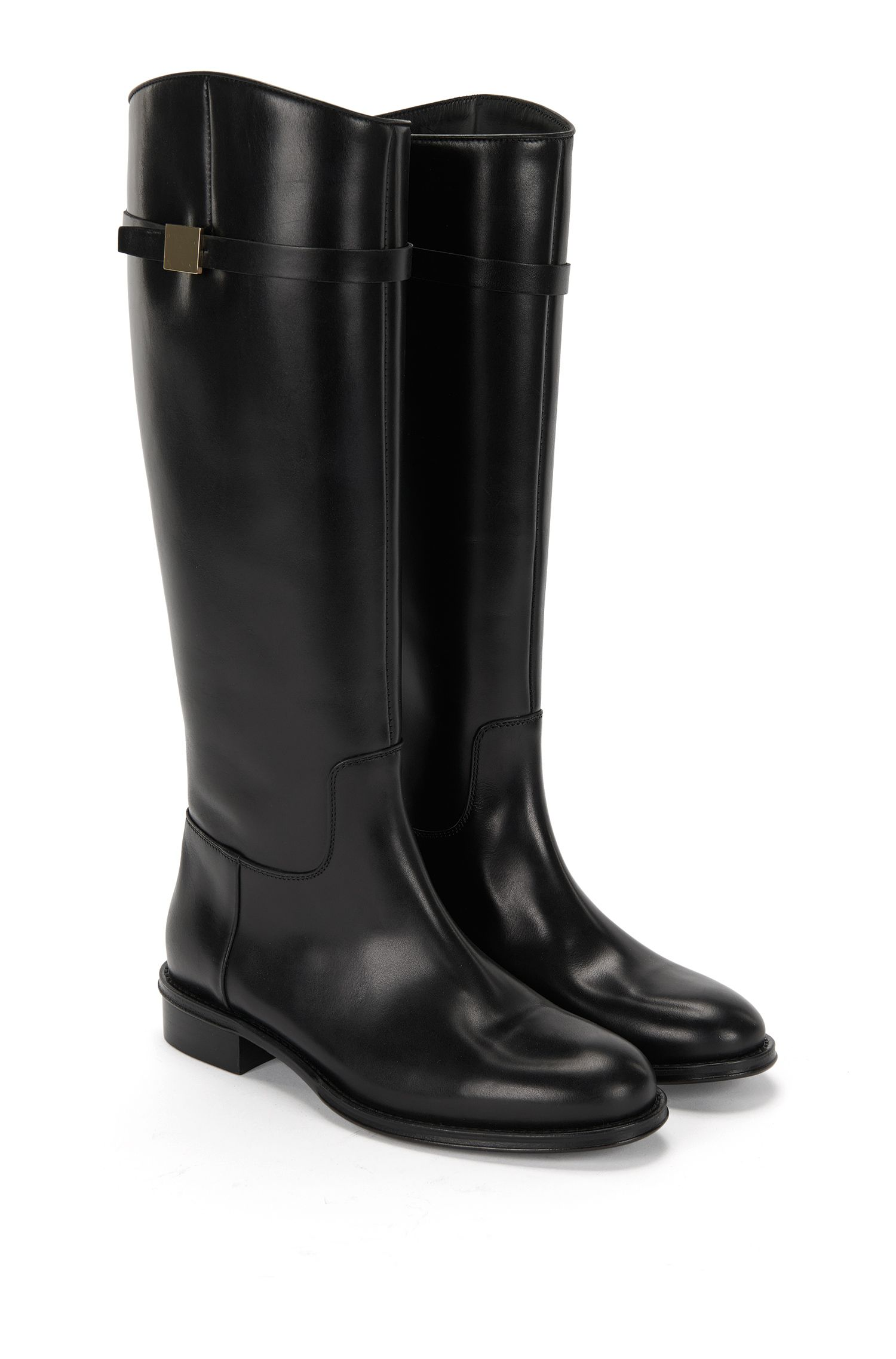 'Pin Riding Boot' | Italian Calfskin Riding Boot