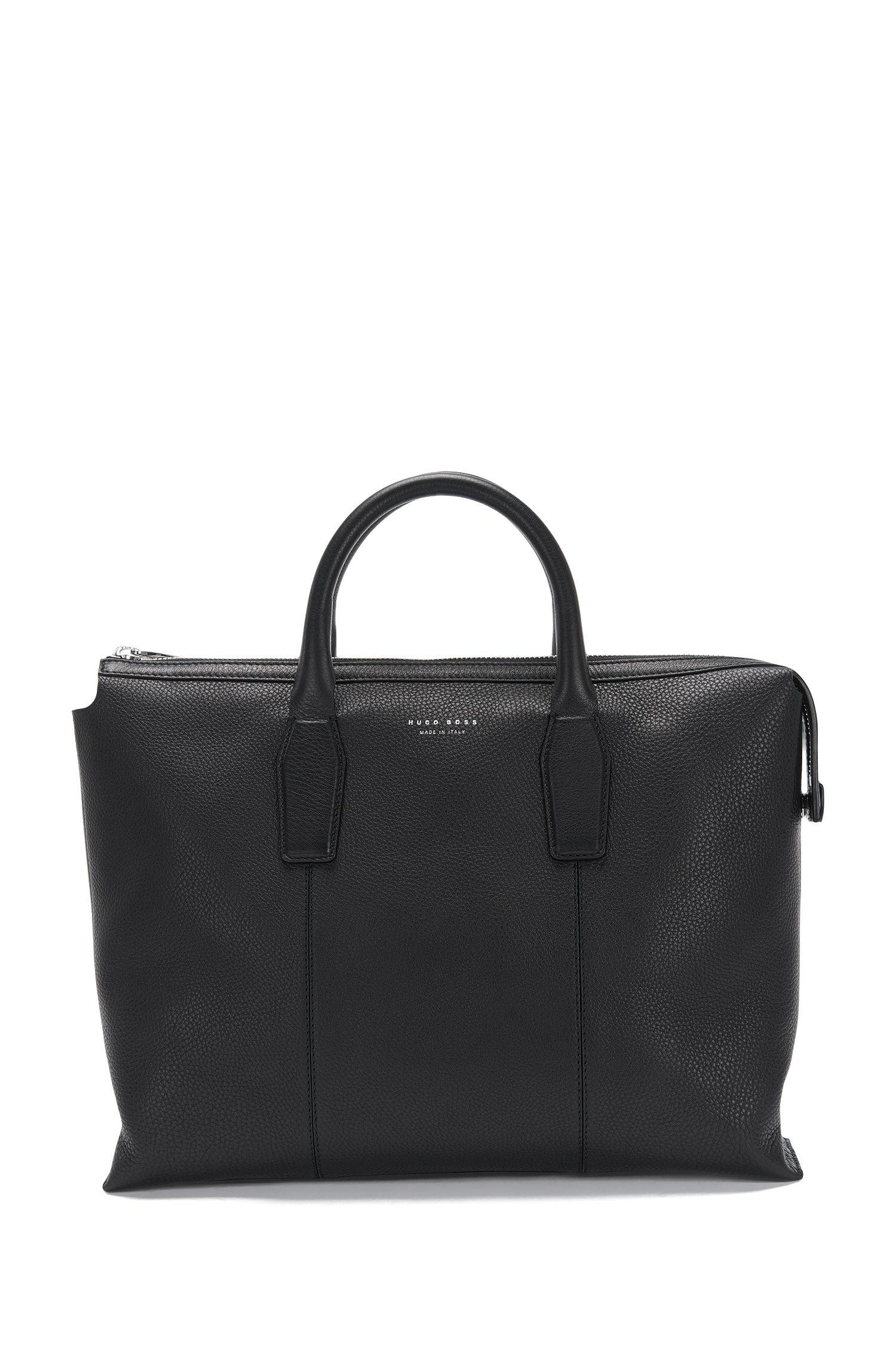 'Elite S Doc'   Italian Calfskin Workbag, Detachable Shoulder Strap