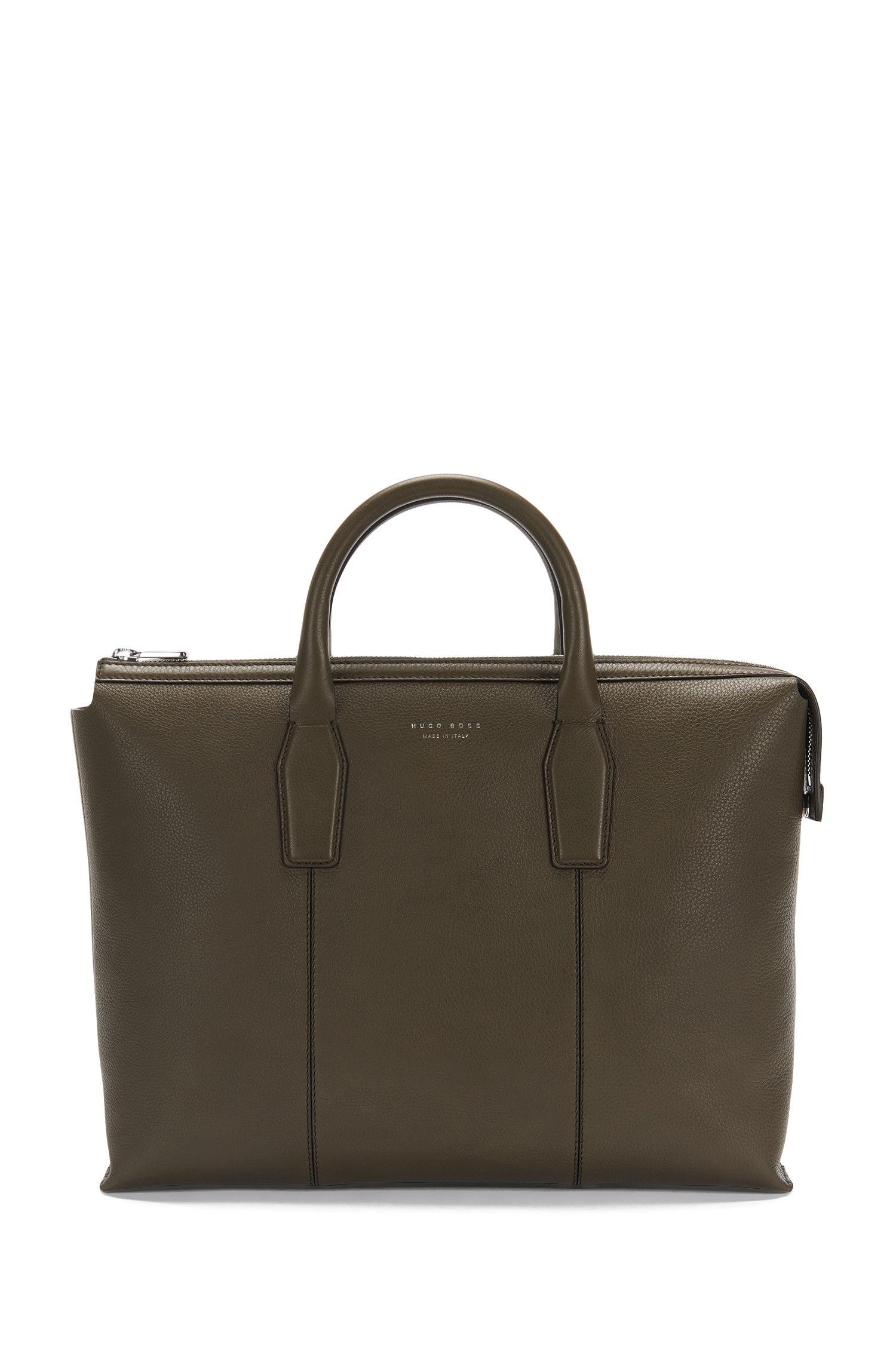 'Elite S Doc' | Italian Calfskin Workbag, Detachable Shoulder Strap