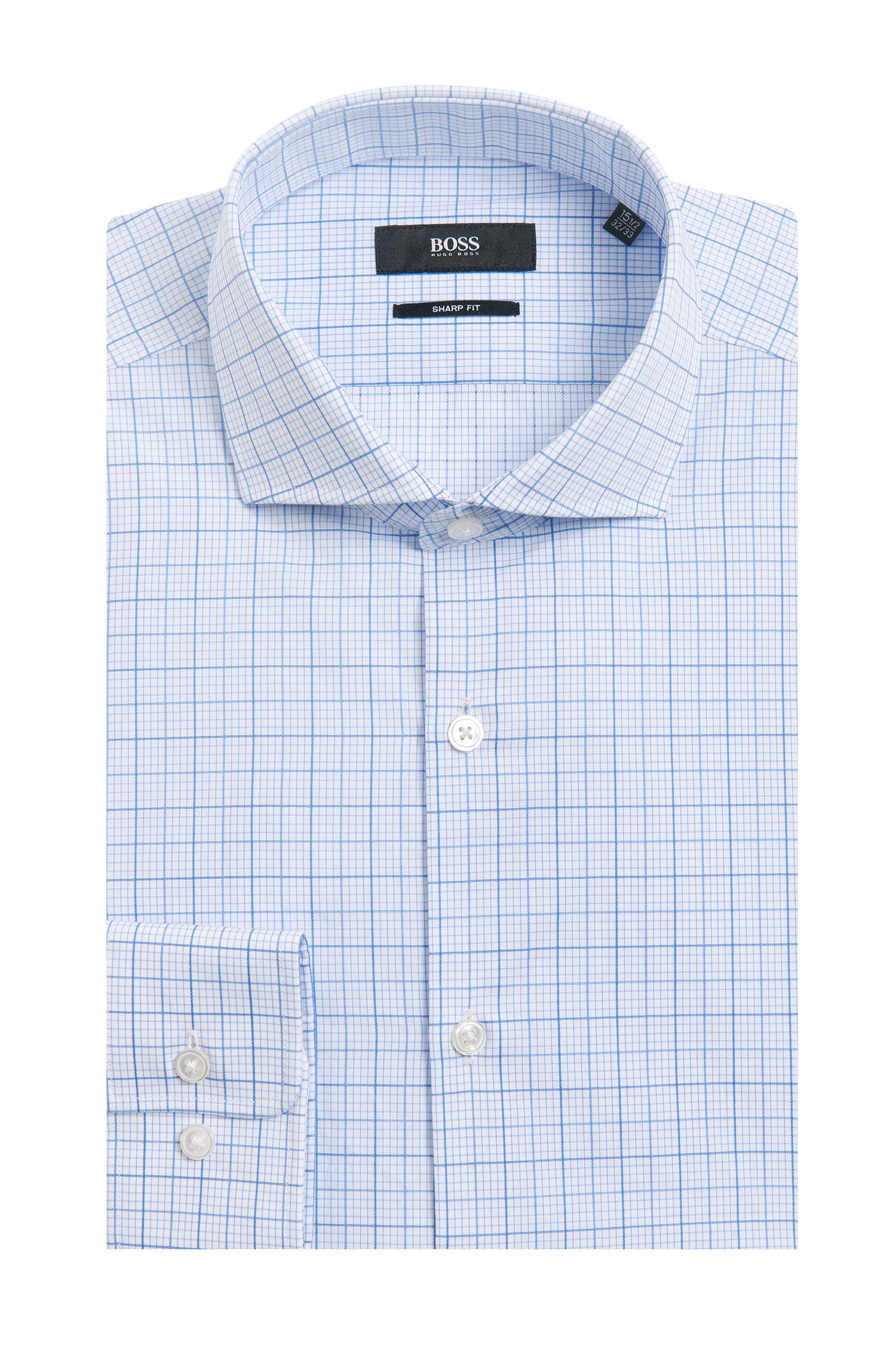 'Mark US' | Sharp Fit, Cotton Checked Dress Shirt