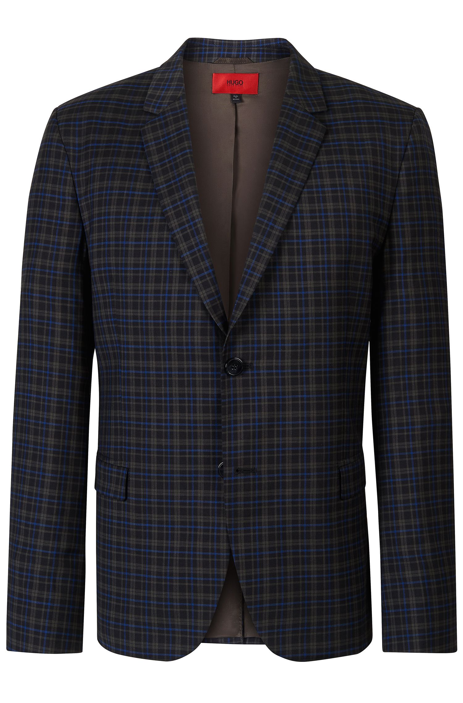 'Arelto' | Relaxed Fit, Virgin Wool Plaid Sport Coat