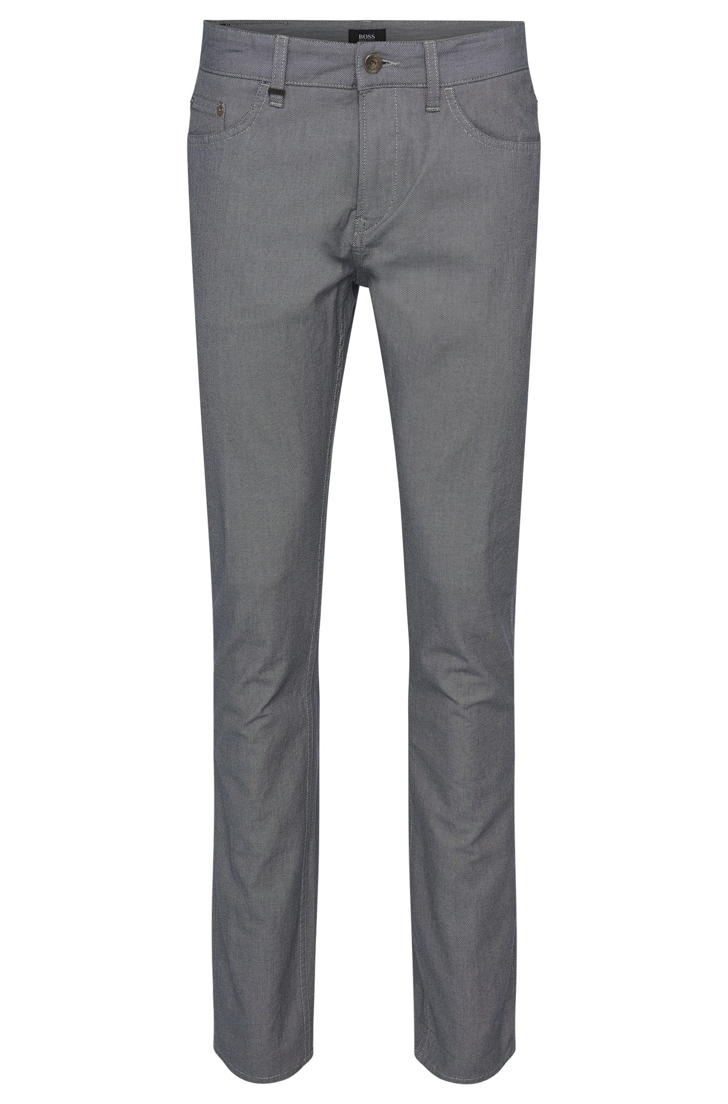 'Delaware' | Slim Fit, 8 oz Stretch Cotton Contrast Trousers