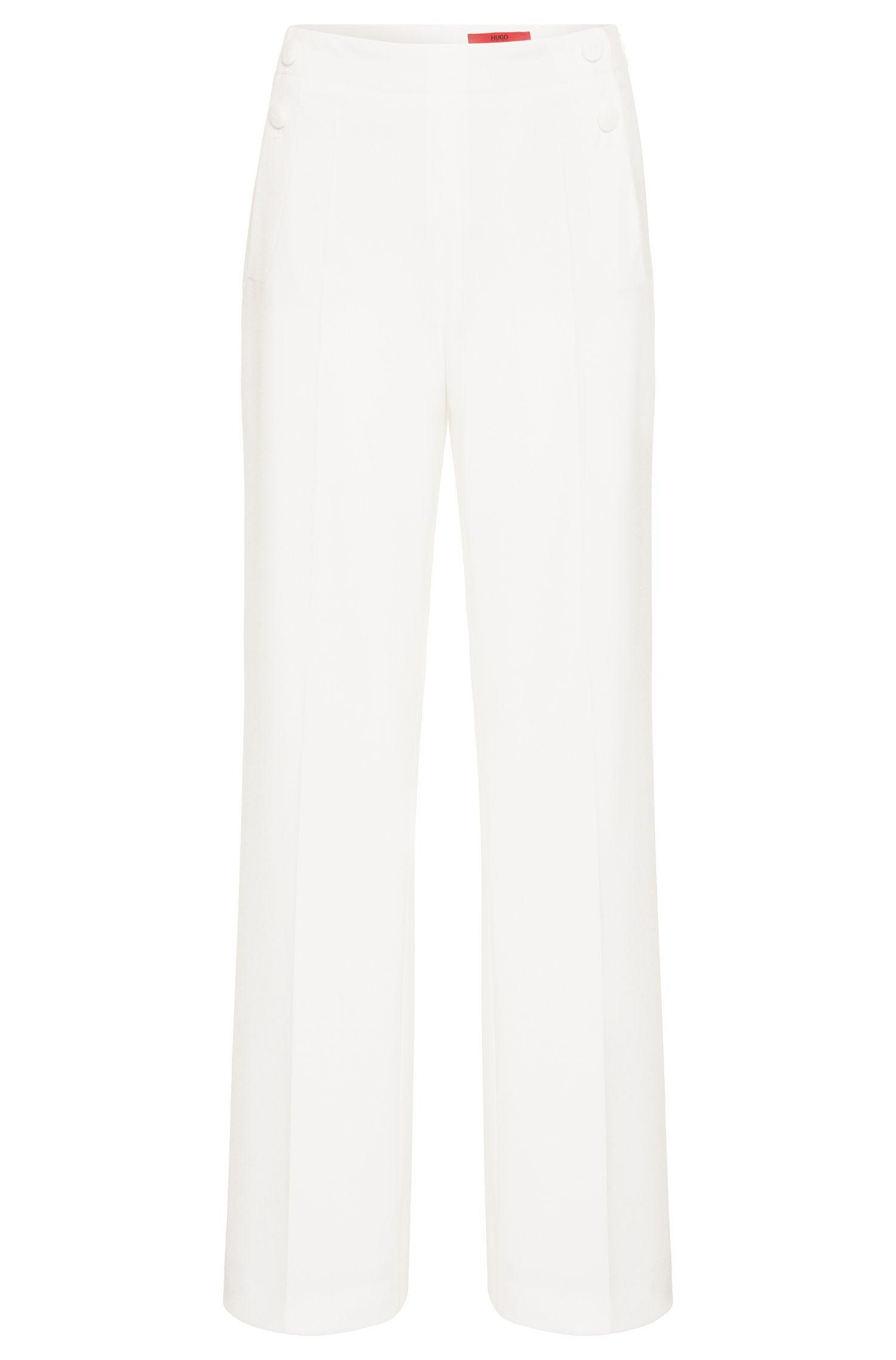 'Hotaru' | Stretch Crepe Wide Leg Trousers