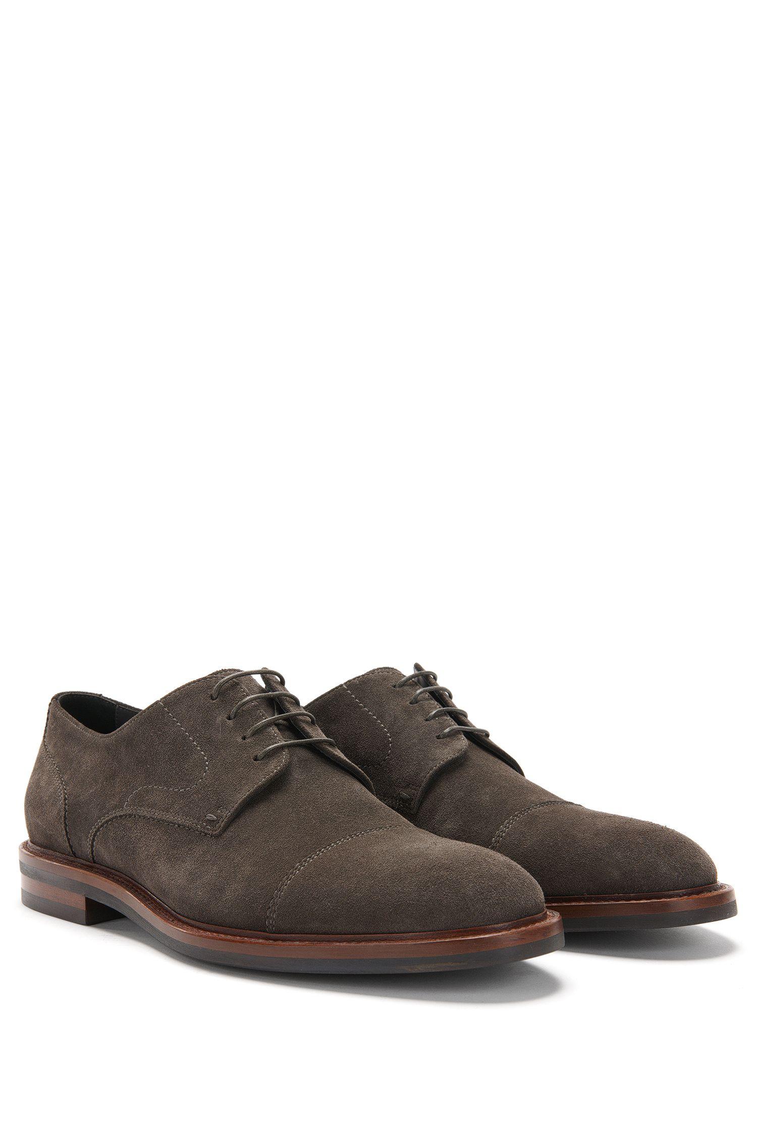 'Ocean Derb Sdct' | Calfskin Suede Derby Shoes