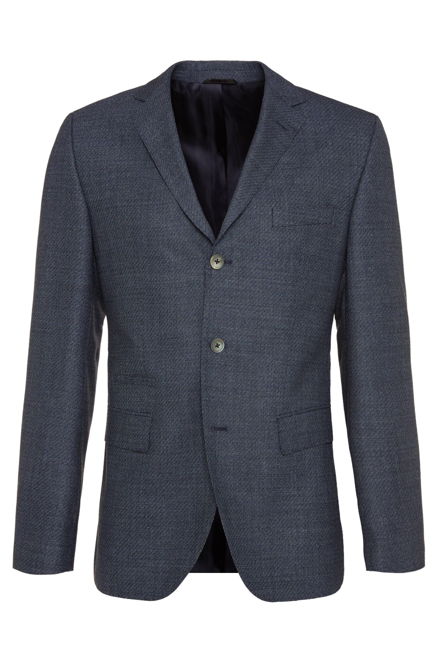'Johnston' | Regular Fit, Virgin Wool Sport Coat
