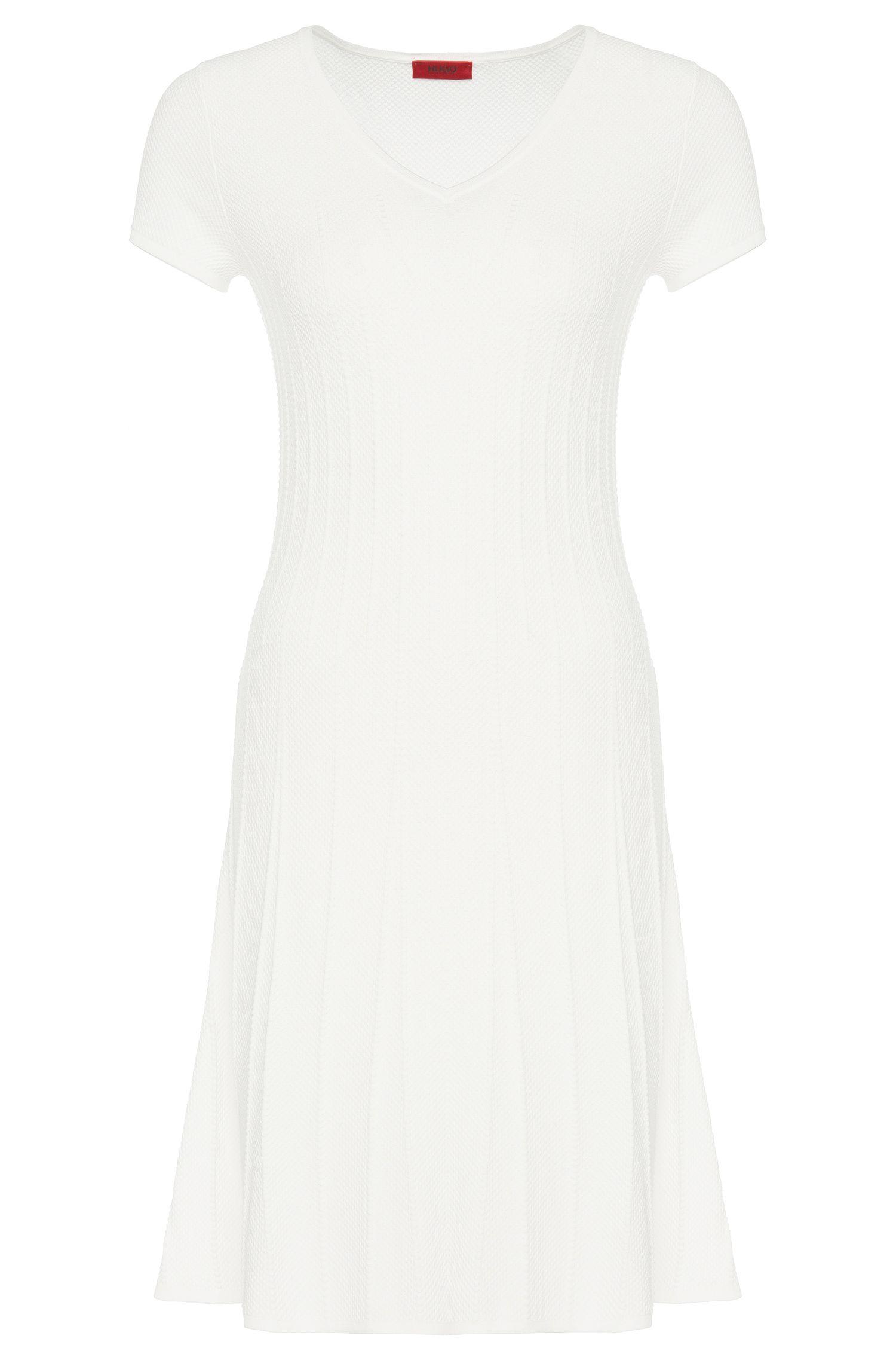 'Silvya'   Viscose Blend Knit A-Line Ribbed Dress