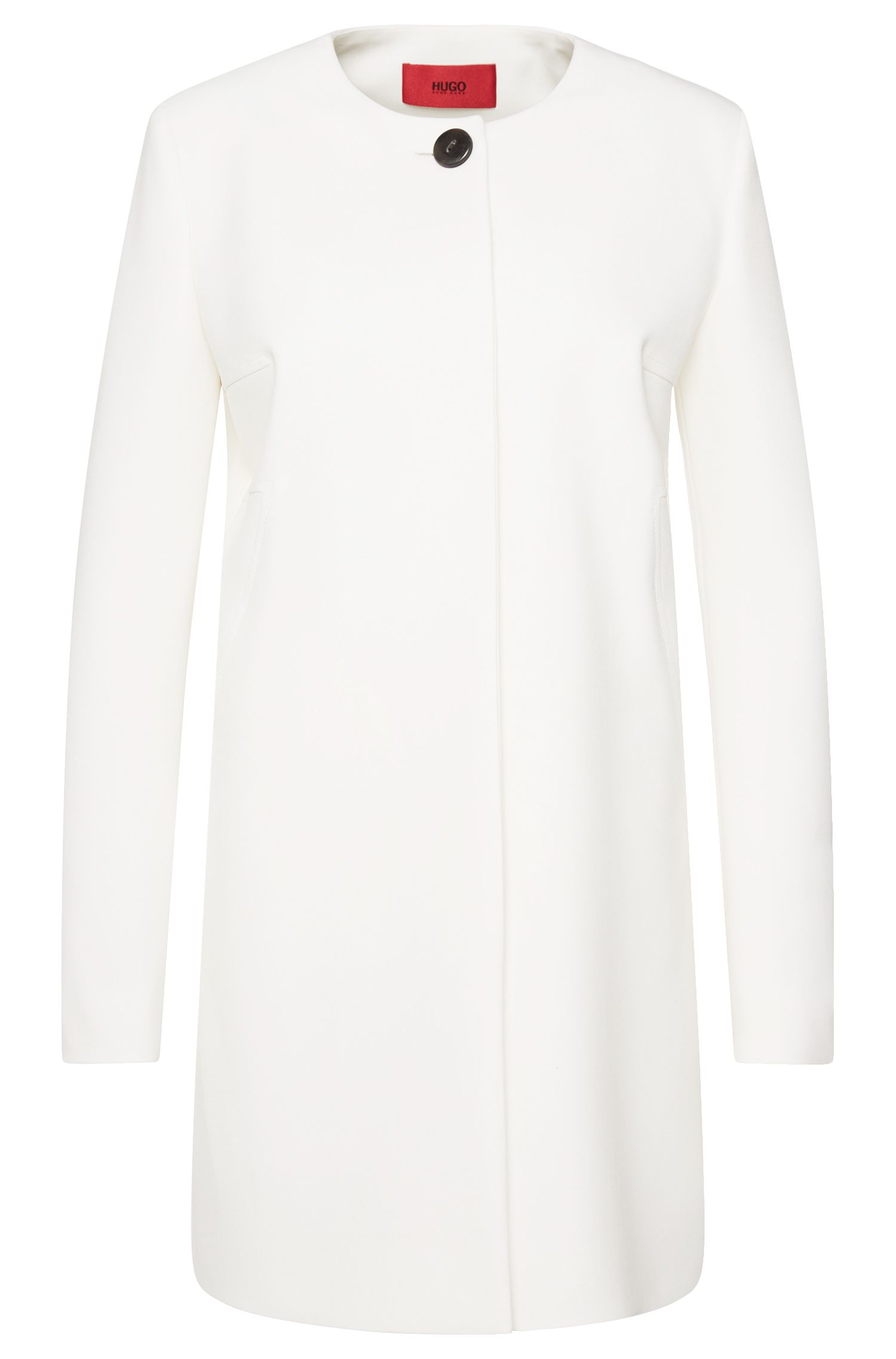 'Mairi' | Stretch Cotton Blend Car Coat