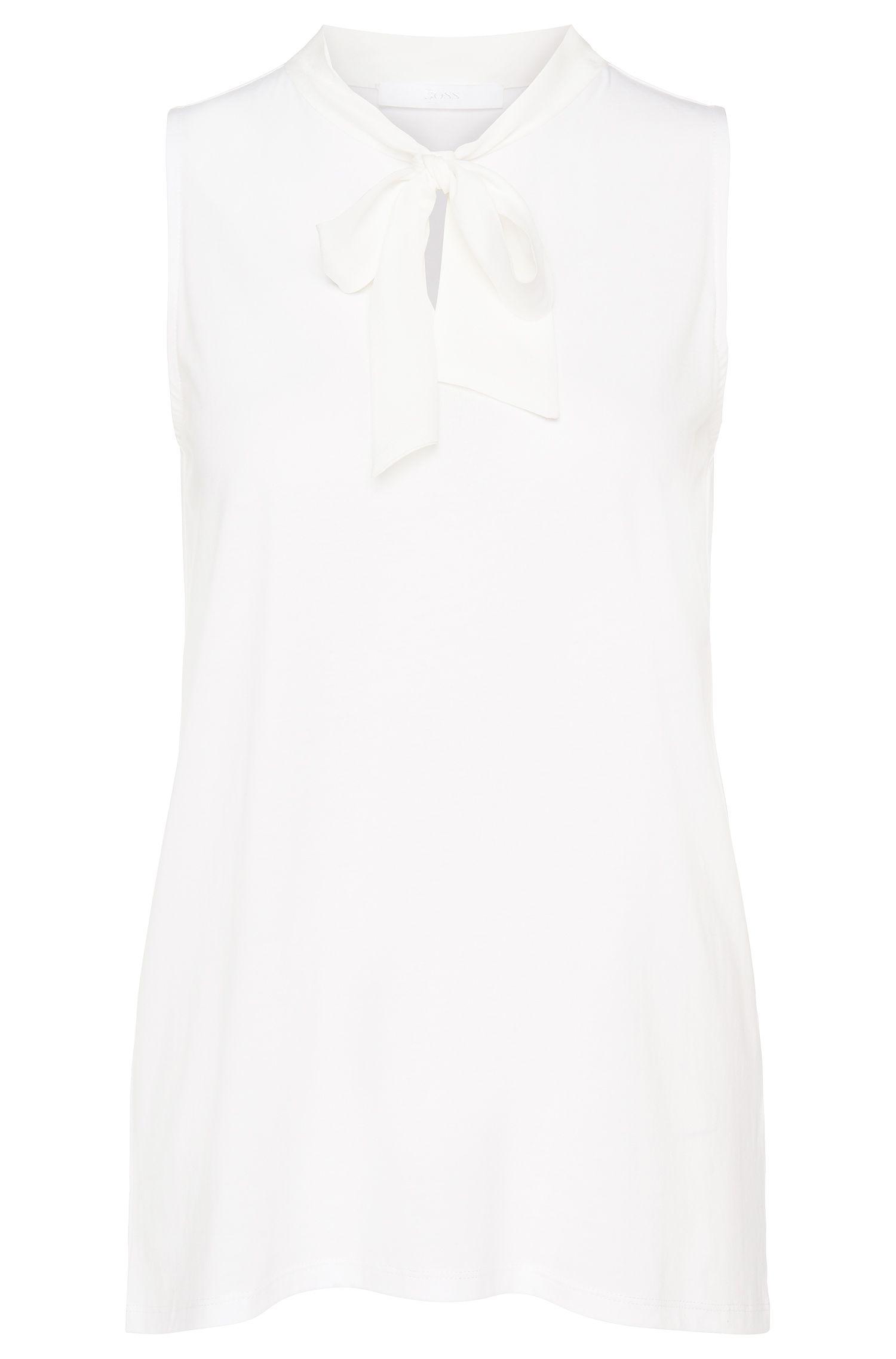 'Emella' | Lyocell Cotton Bow Blouse