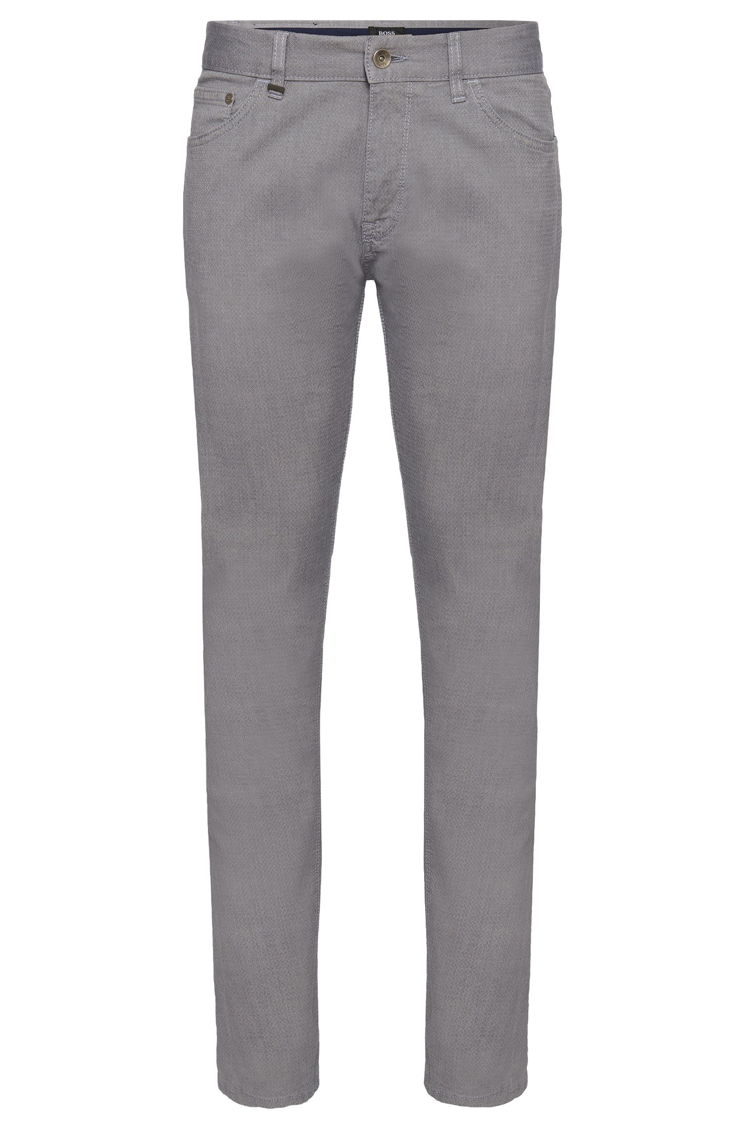 'Maine'   Regular Fit, Stretch Cotton Patterned Trousers