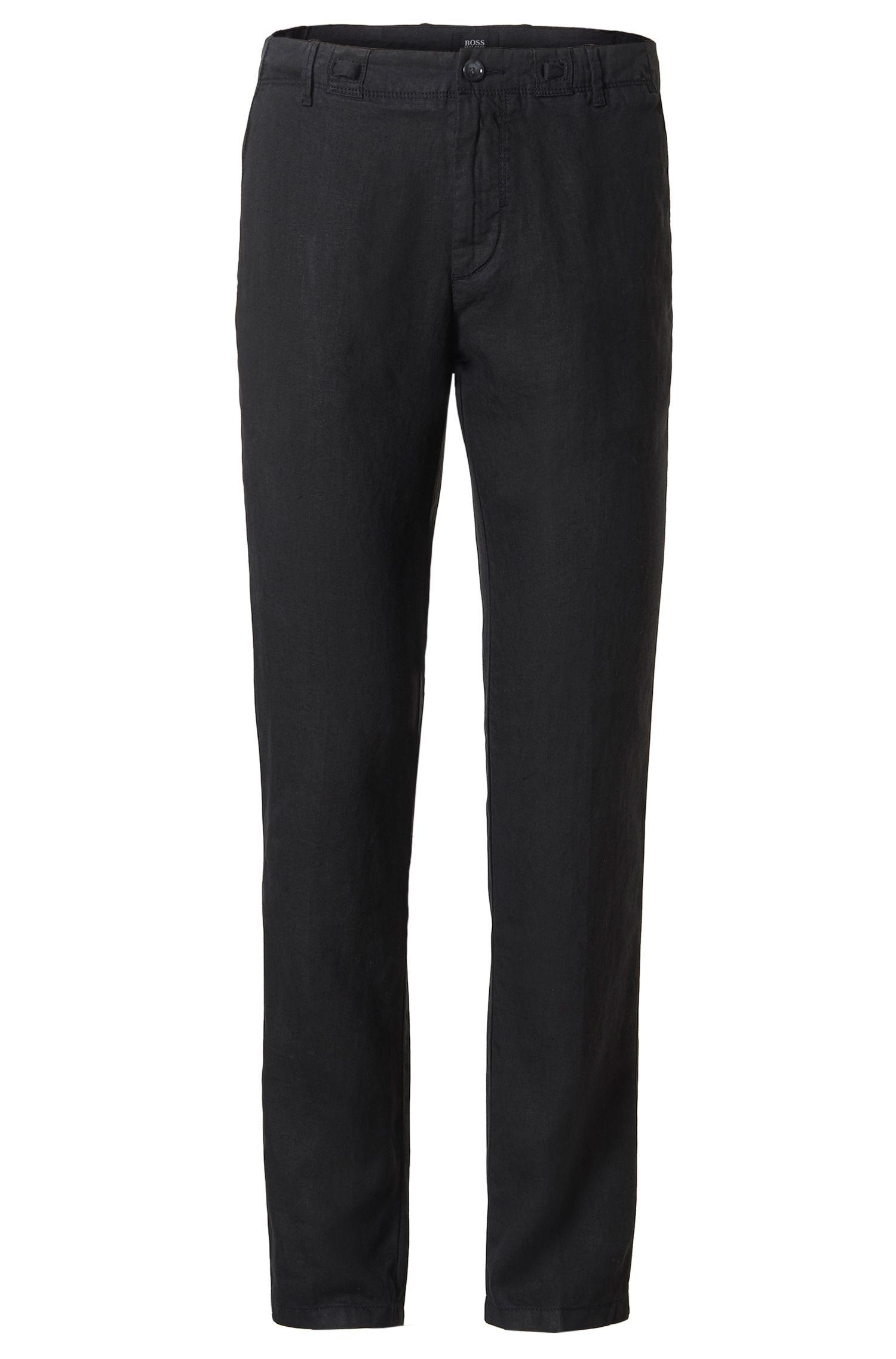 'Floyd-D' | Slim Fit, Linen Drawstring Pants