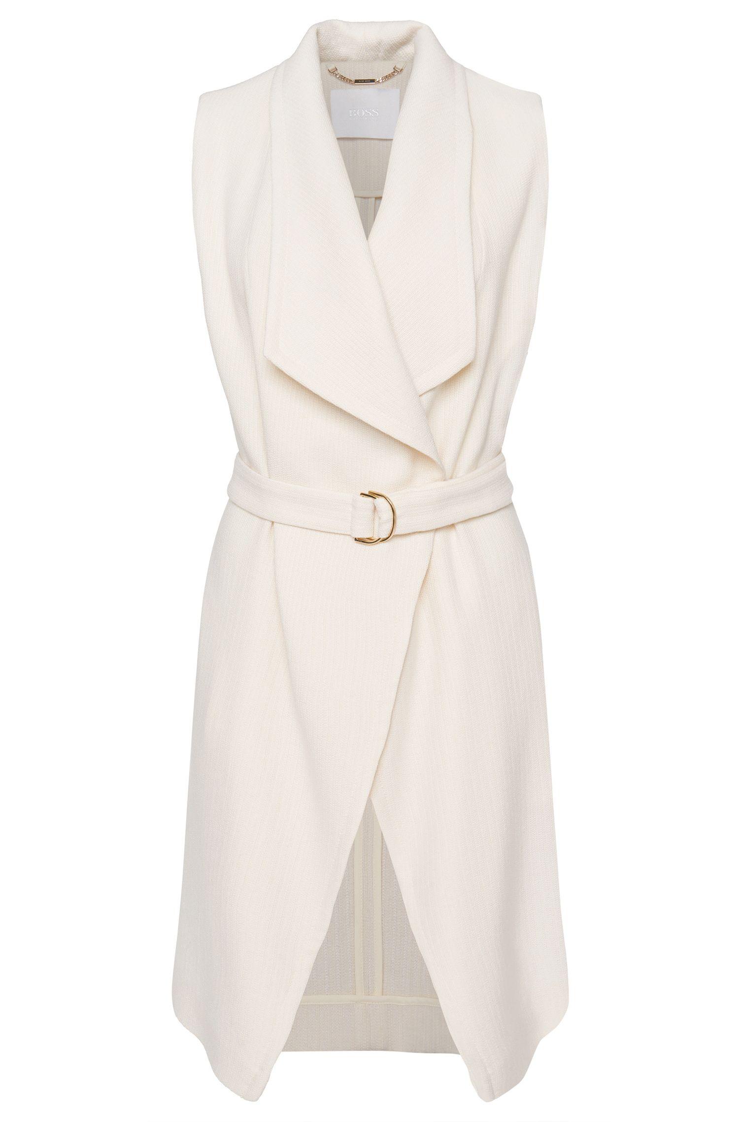 'Kalimi' | Wool Blend Belted Vest