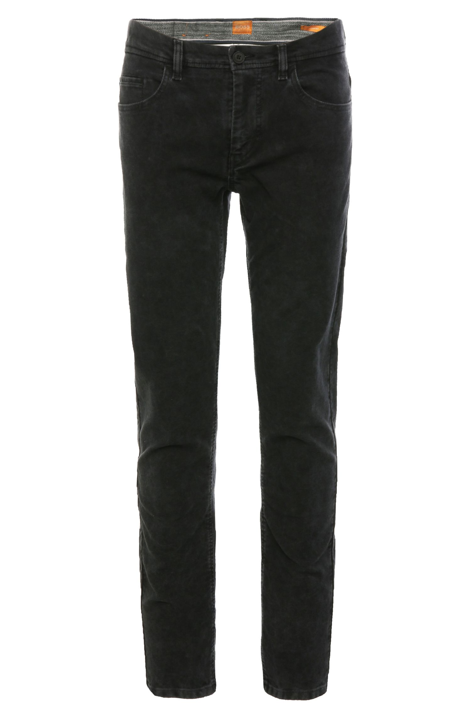 'Semo-W' | Skinny Fit, Stretch Cotton Textured Trousers