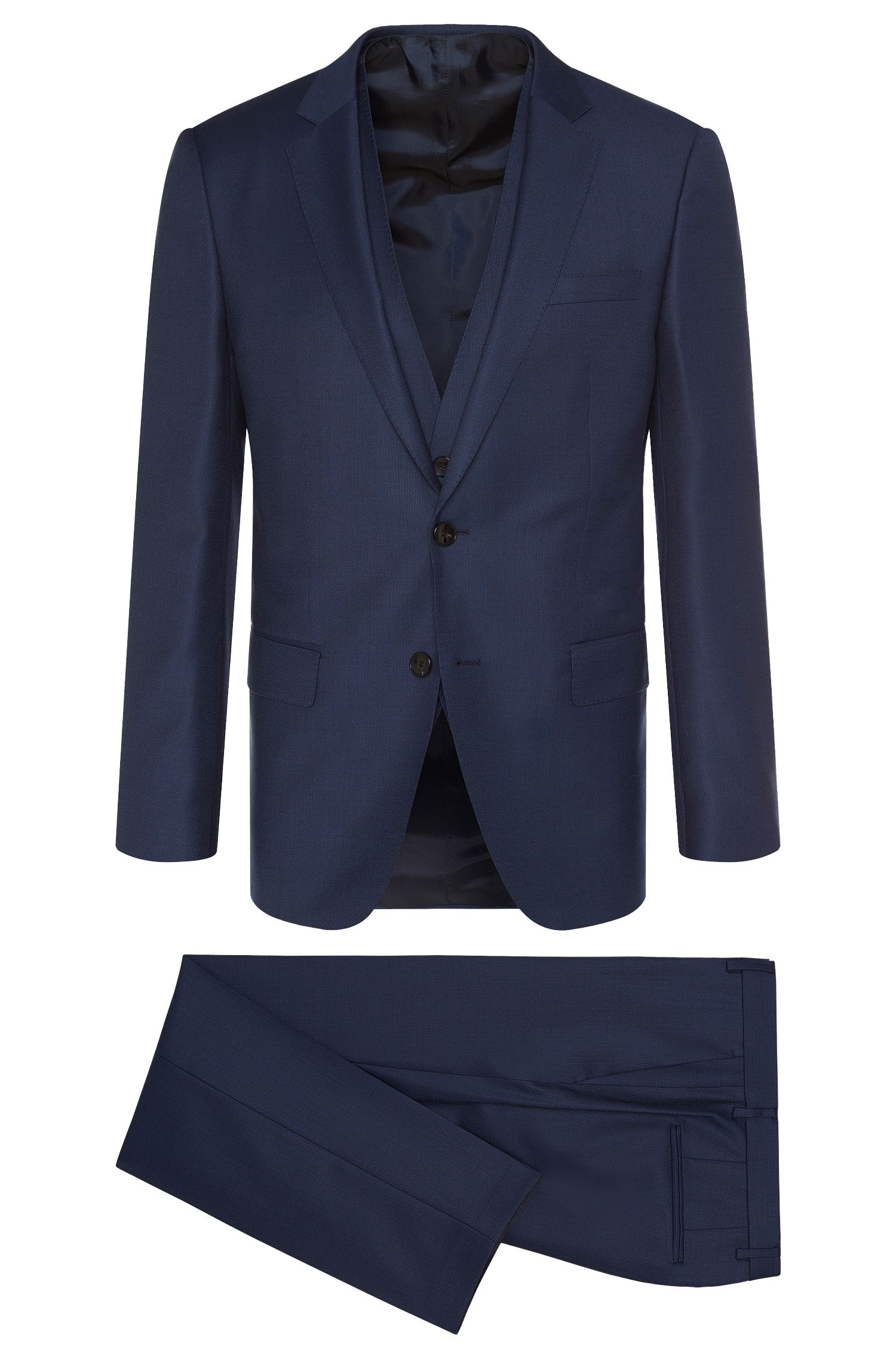 'Hevans/Gill WE' | Slim Fit, Super 120  Italian Virgin Wool 3-Piece Suit