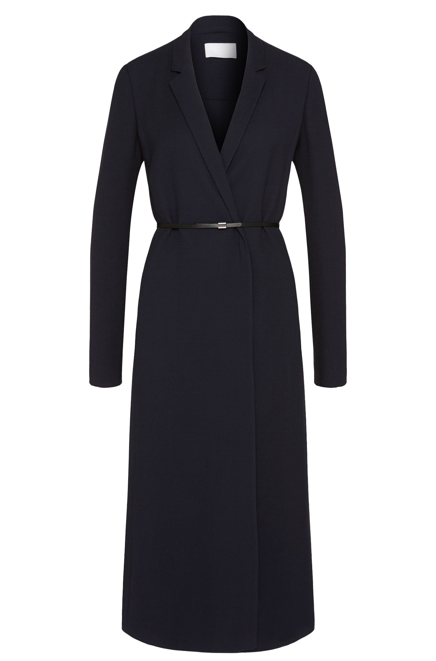 'Doftina' | Virgin Wool Belted Dress Jacket