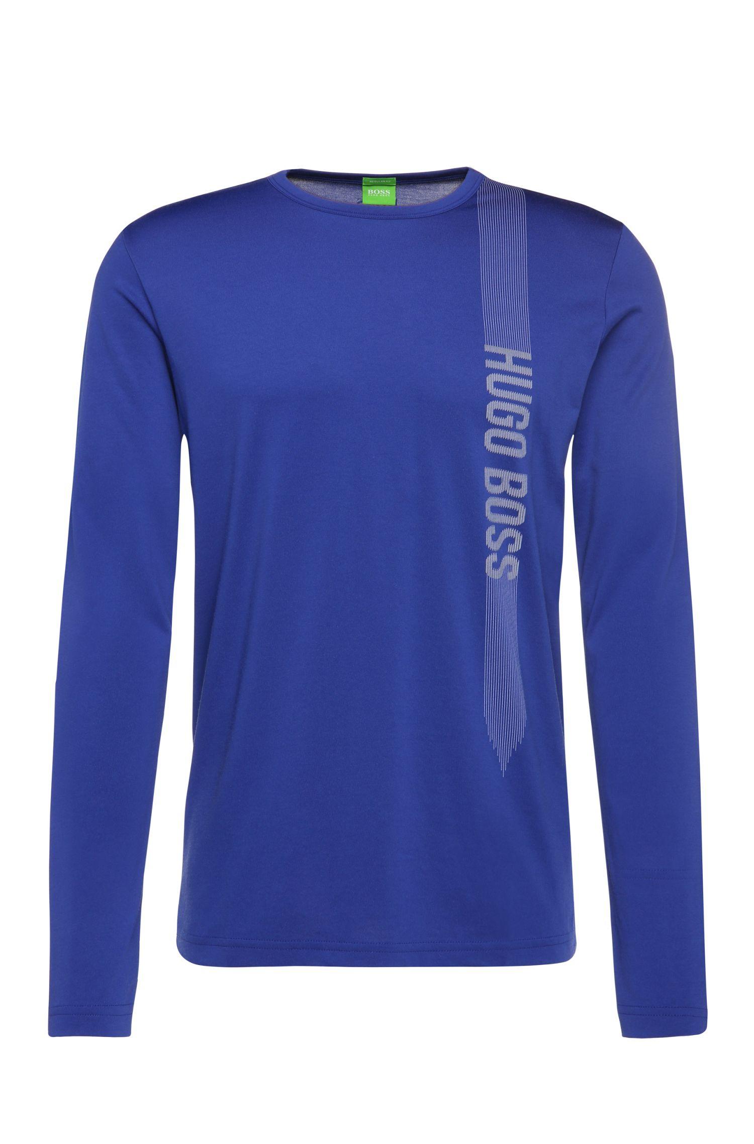'Togn'   Cotton Blend Logo Long Sleeve T-Shirt