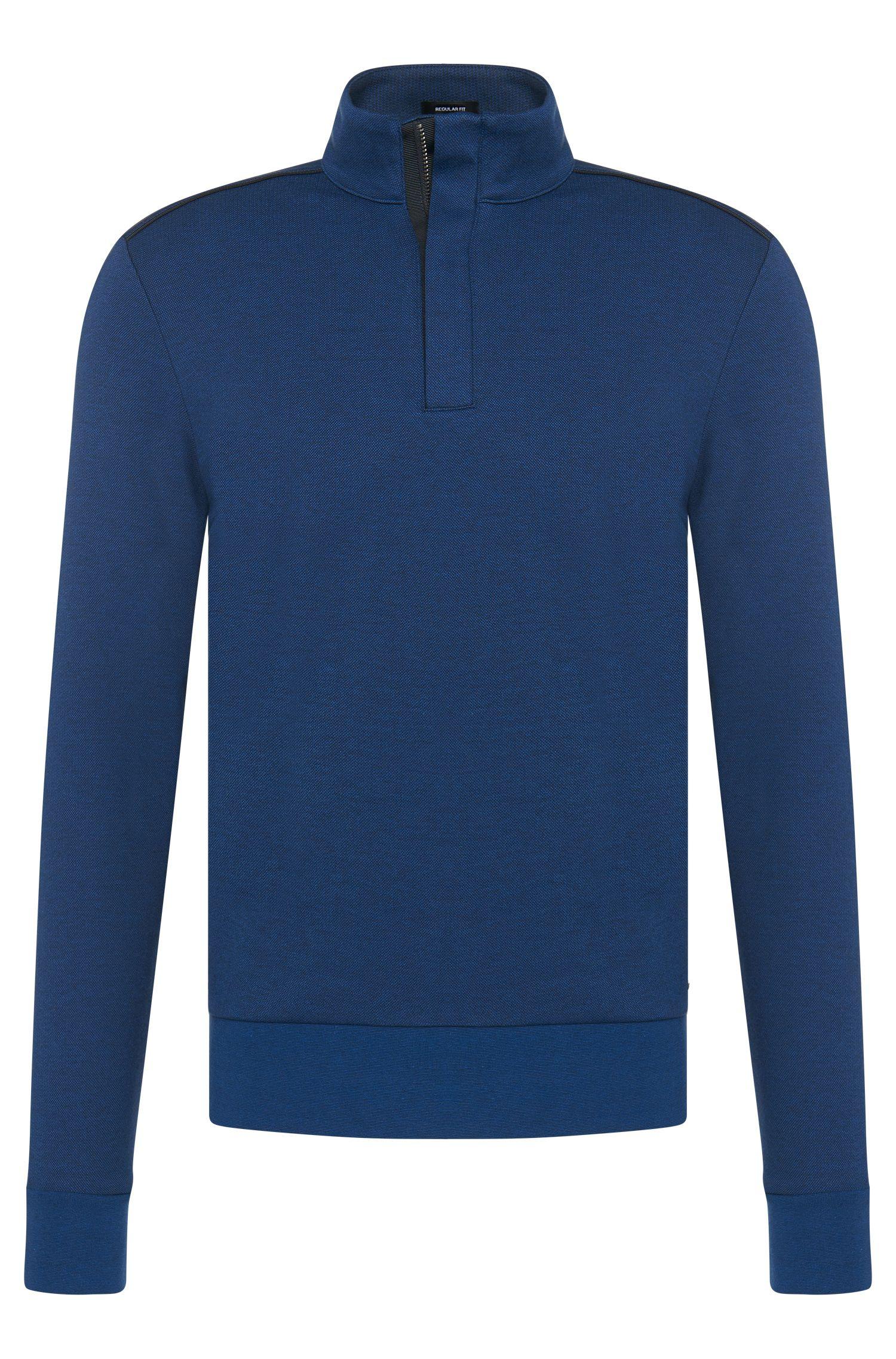 'Sidney' | Cotton Zip Troyer Sweater