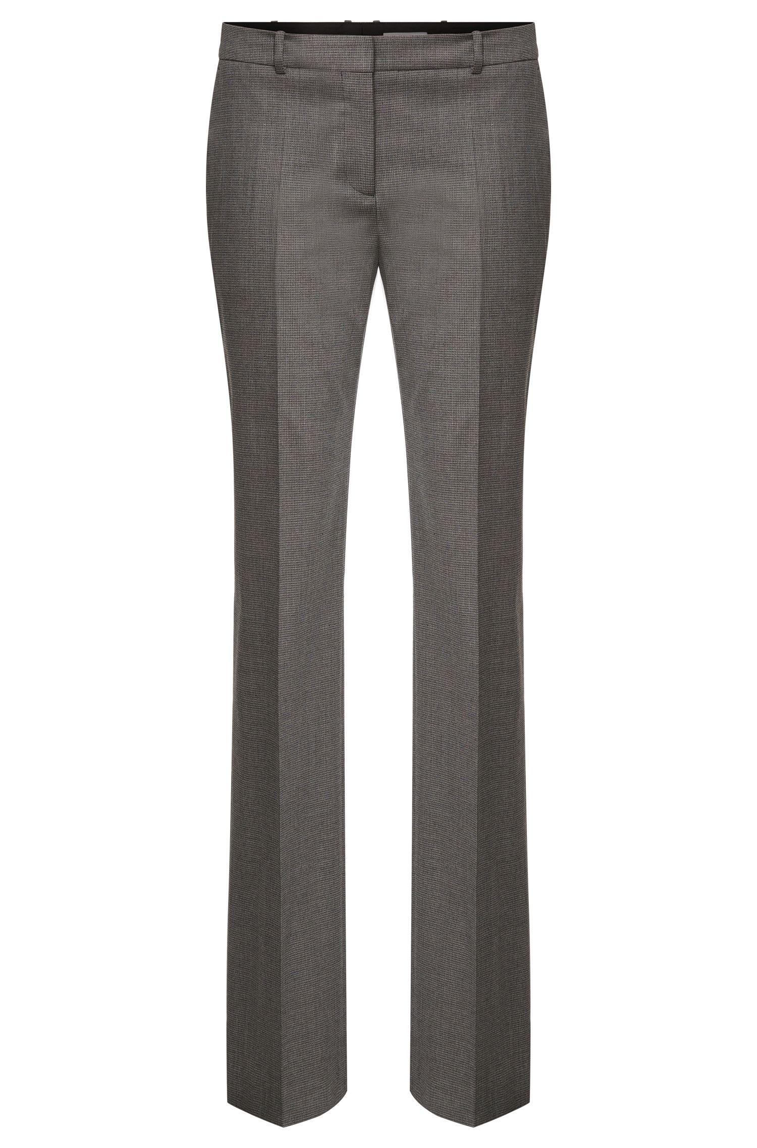 'Tamea' | Stretch Virgin Wool Blend Patterned Dress Pants