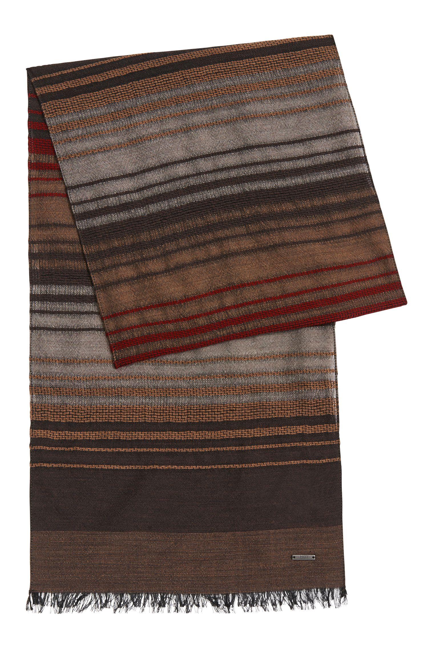 'Cantos' | Italian Virgin Wool Silk Striped Scarf