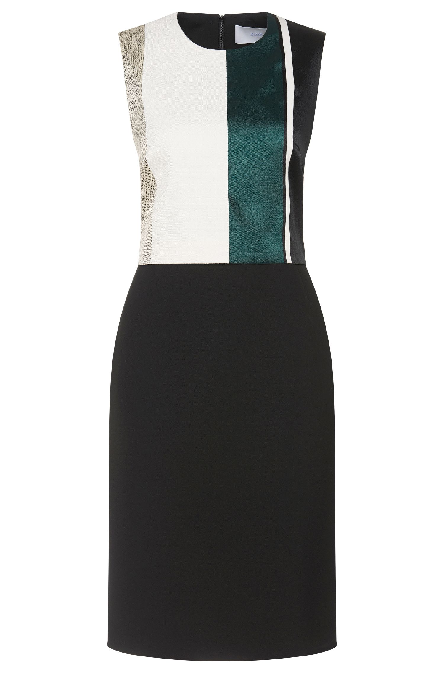 'Dastrina' | Cotton Blend Block Stripe Sheath Dress