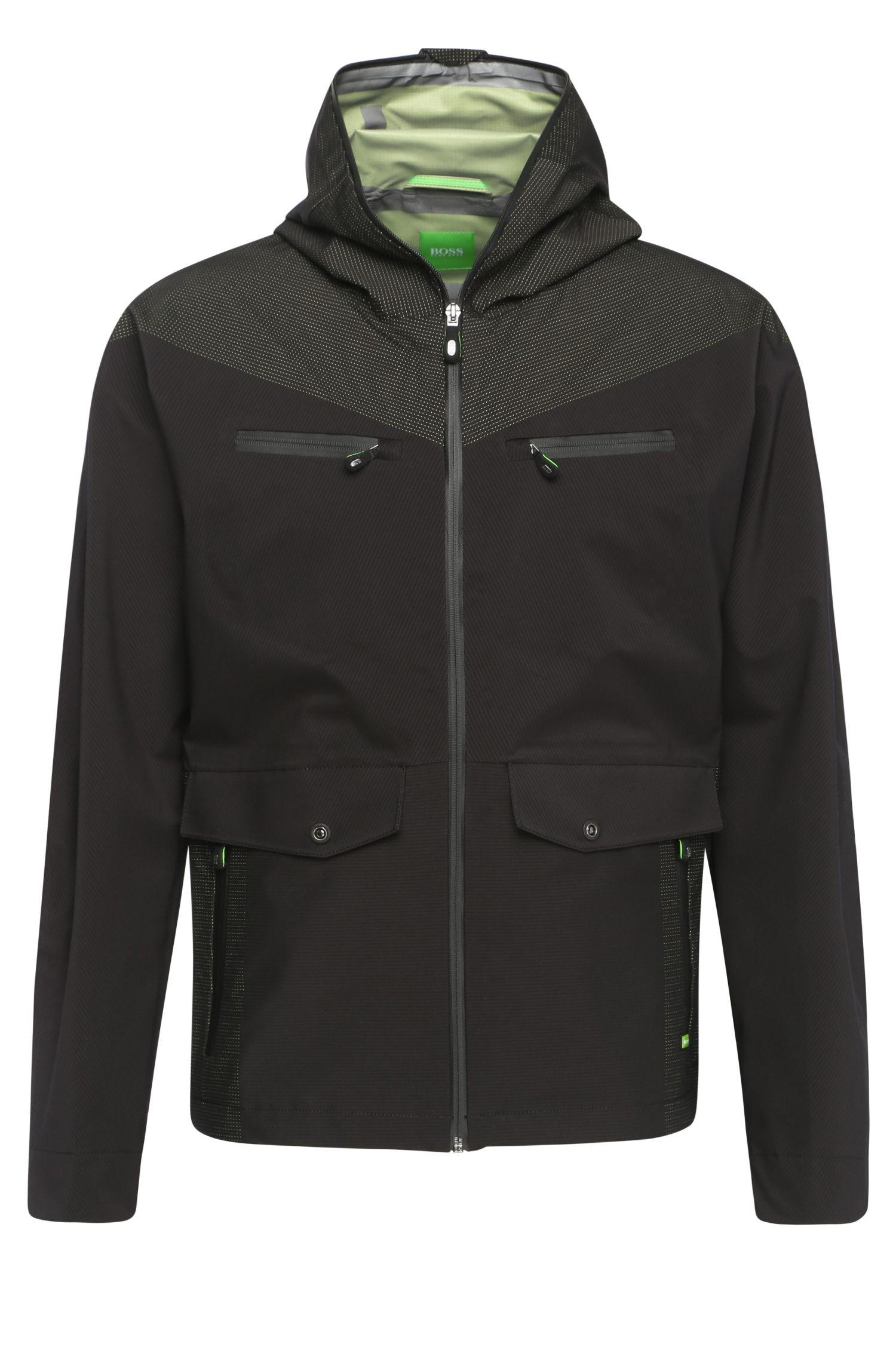 'Jarleston'   Perforated Straight  Hooded Jacket