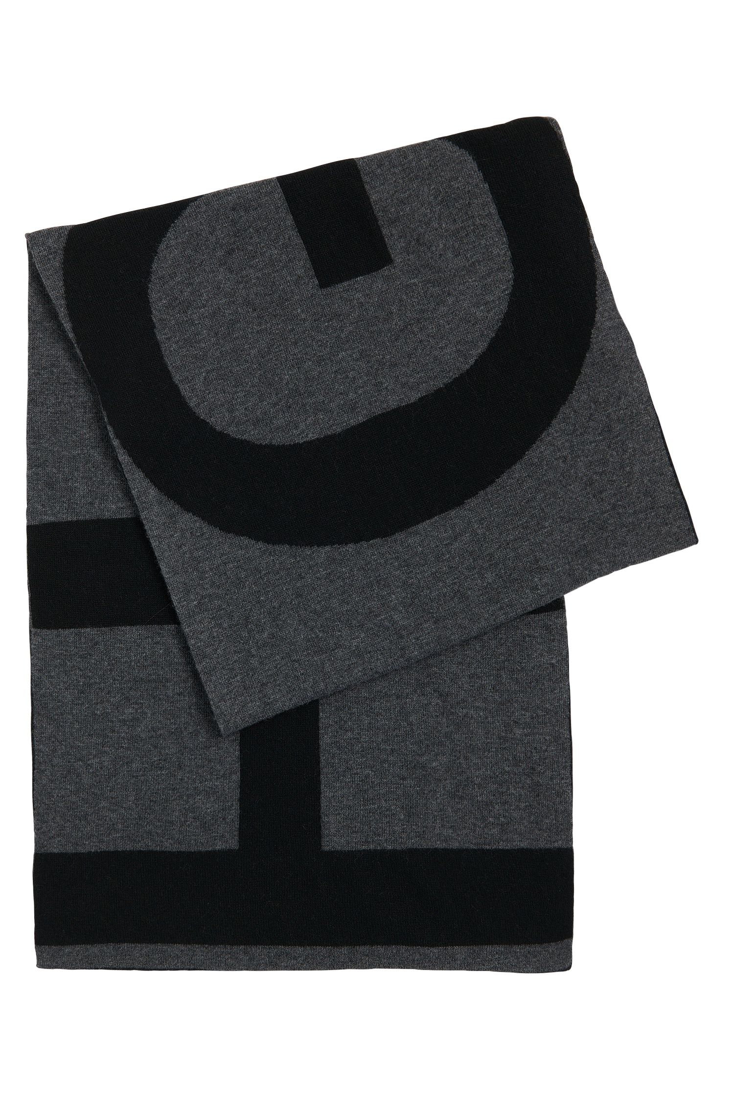 'Men-Z' | Wool Alpaca Cashmere Blend Logo Scarf