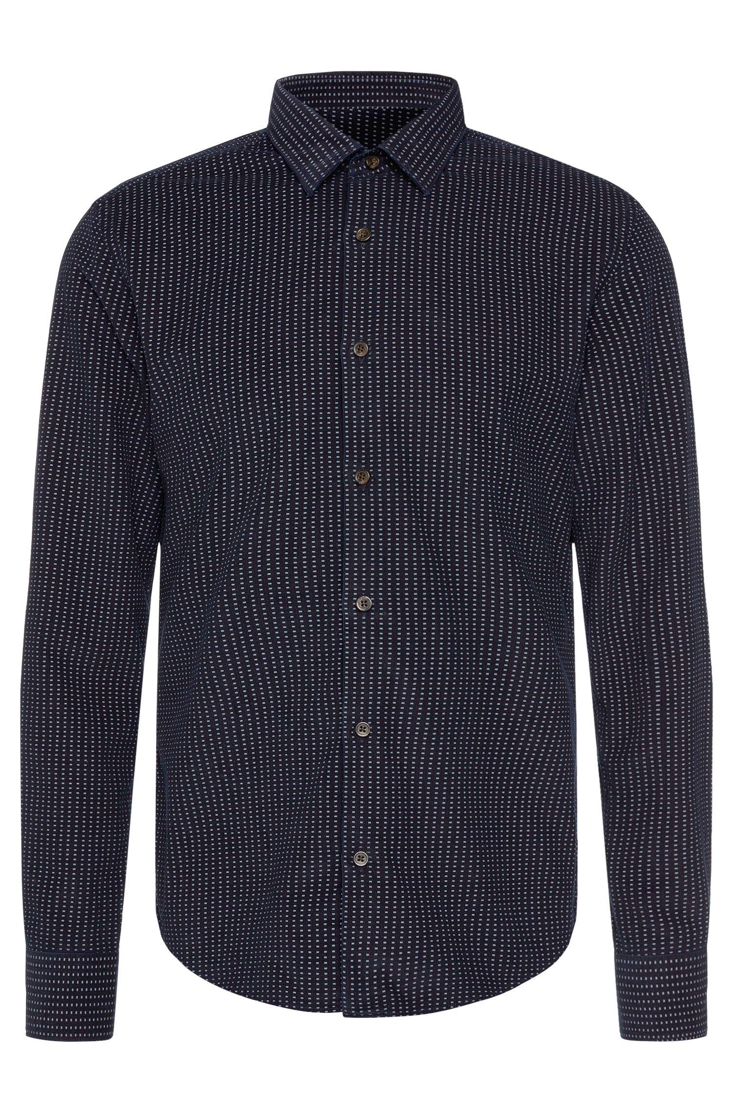 'Reid' | Slim Fit, Cotton Patterned Button Down Shirt
