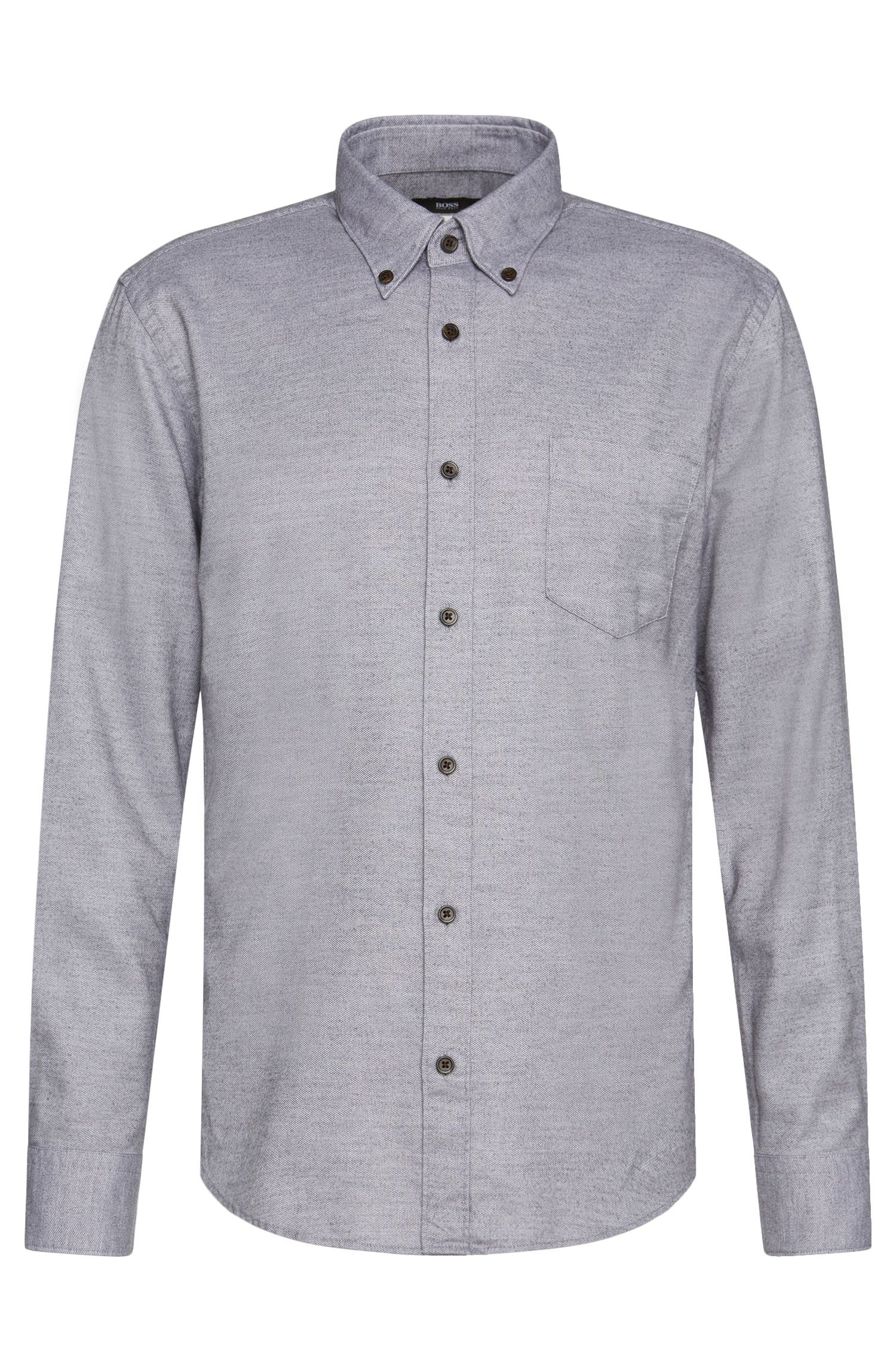 'Rubens P' | Slim Fit, Lyocell Cotton Button Down Shirt