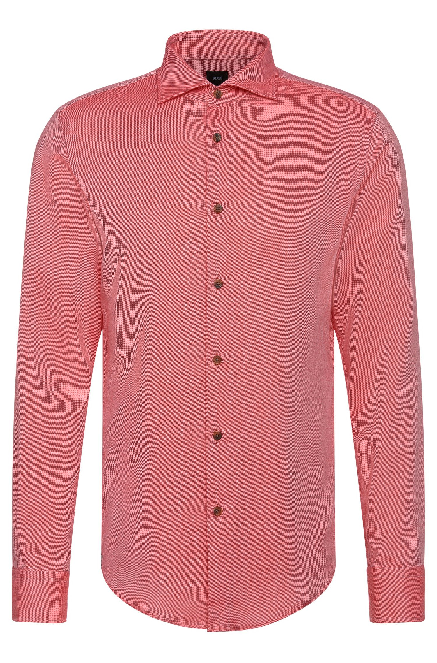 'T-Randolph F' | Slim Fit, Italian Cotton Cashmere Casual Shirt