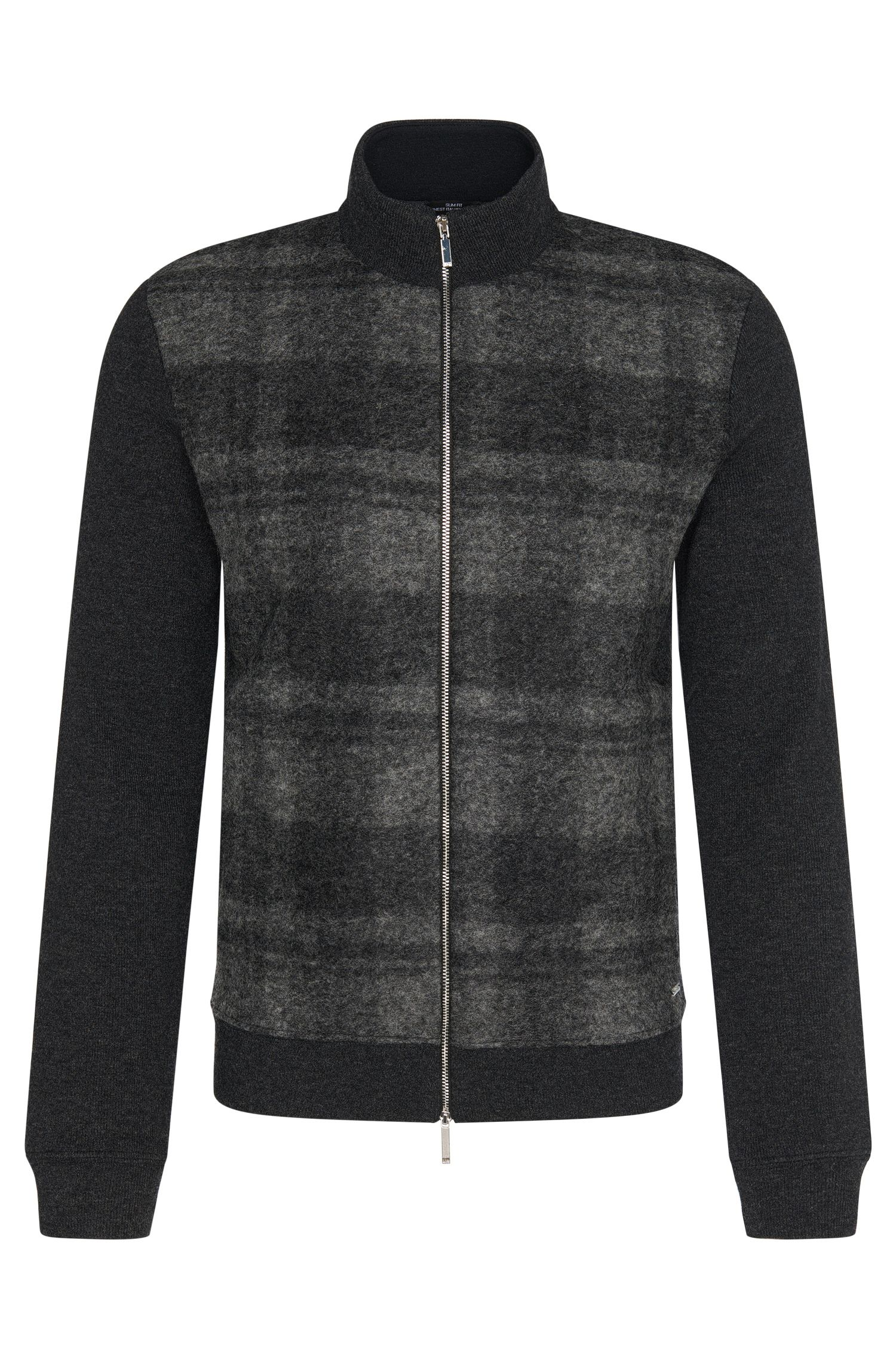 'Soule' | Wool Cotton Blend Zip Cardigan