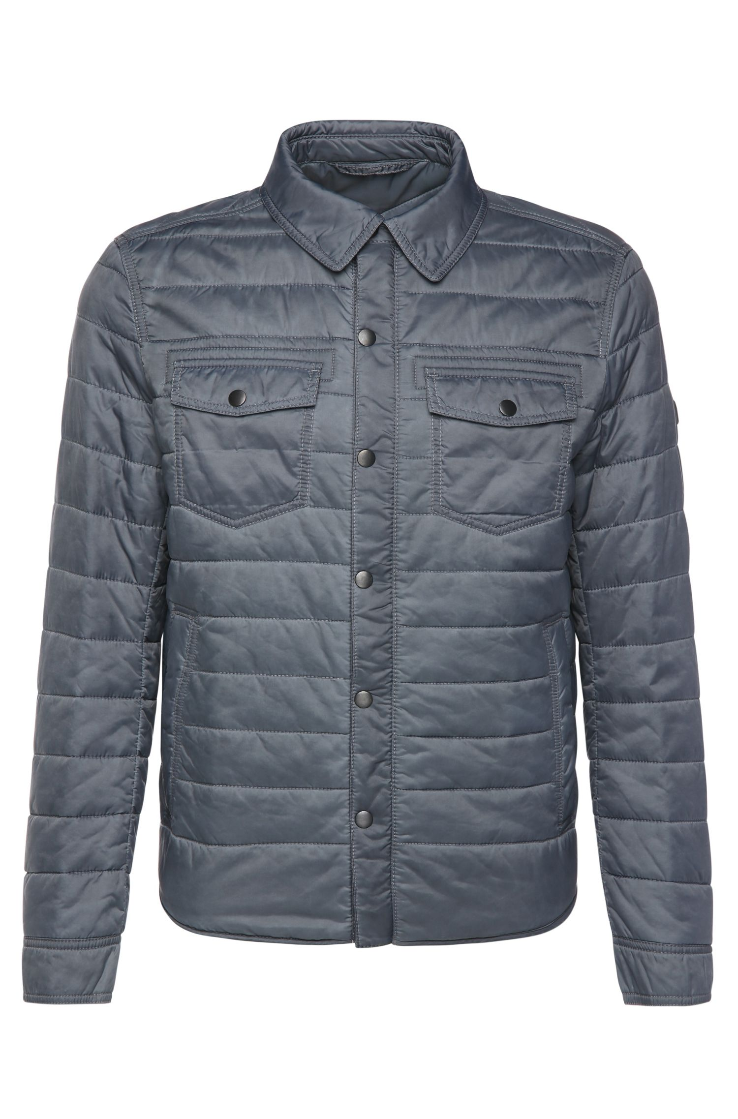 'Owilder-D' | Quilted Button Down Jacket