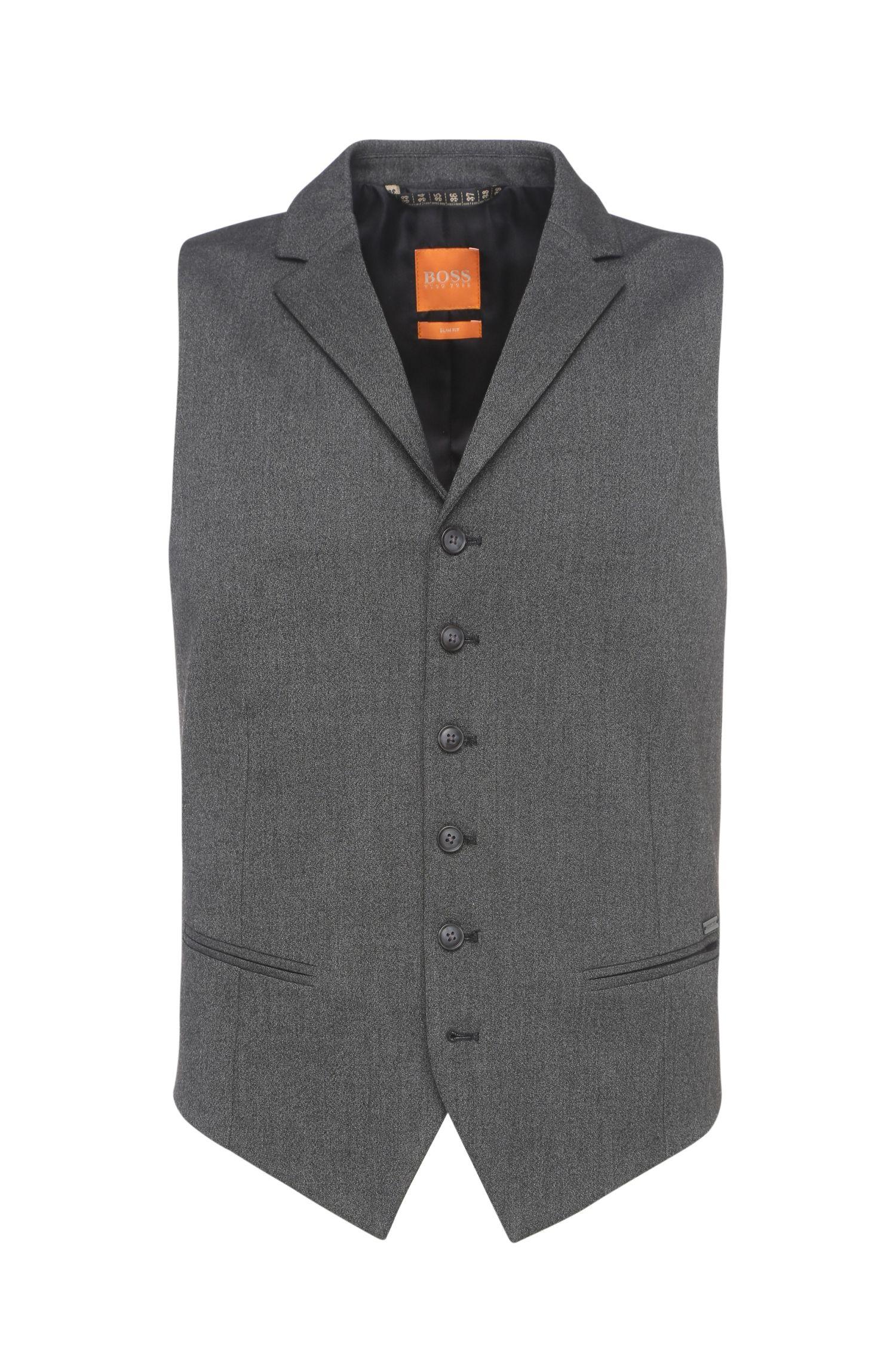 'Braylon BS' | Slim Fit, Stretch Viscose Blend Melange Vest